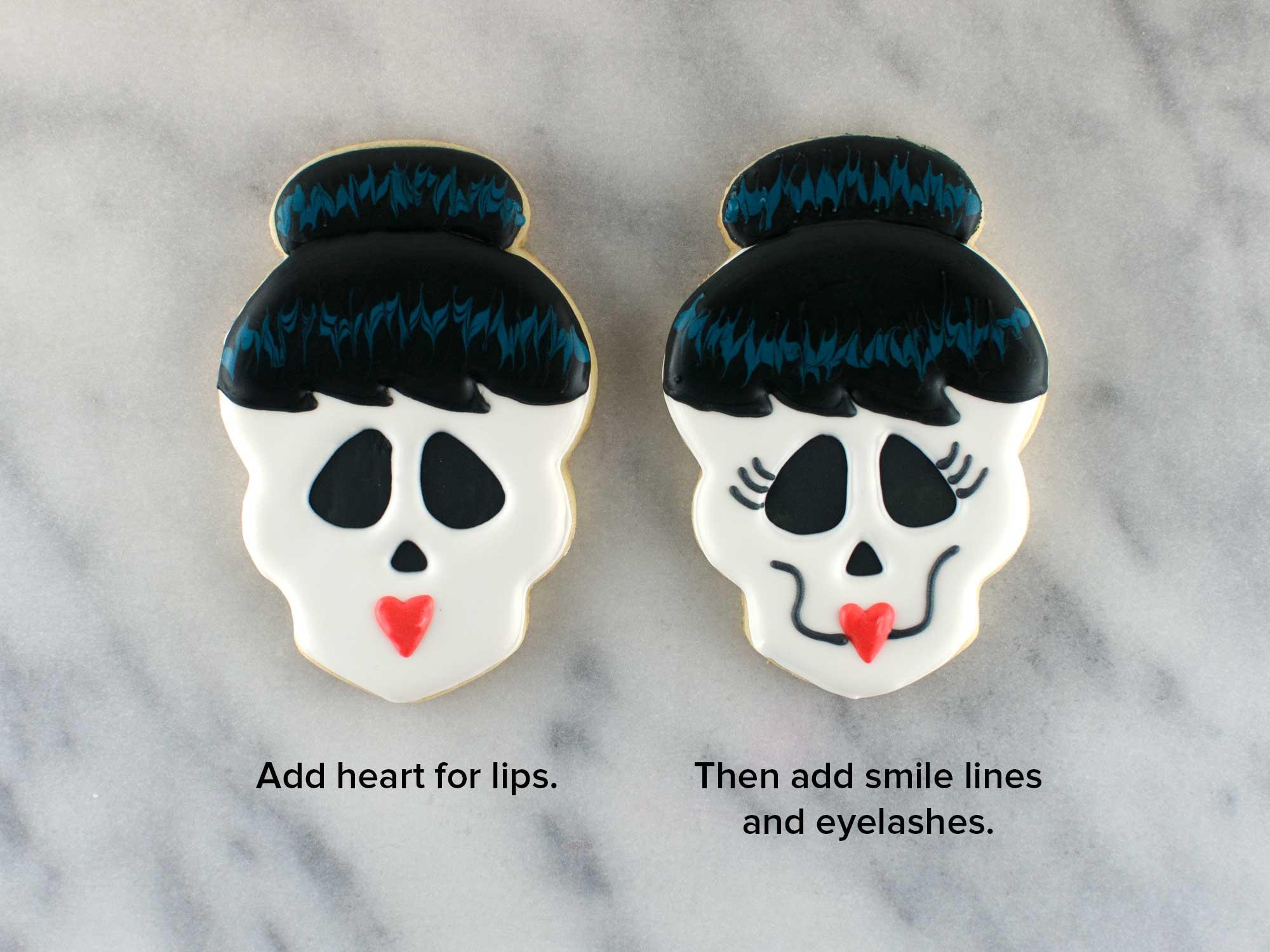 skull girl cookies step 5