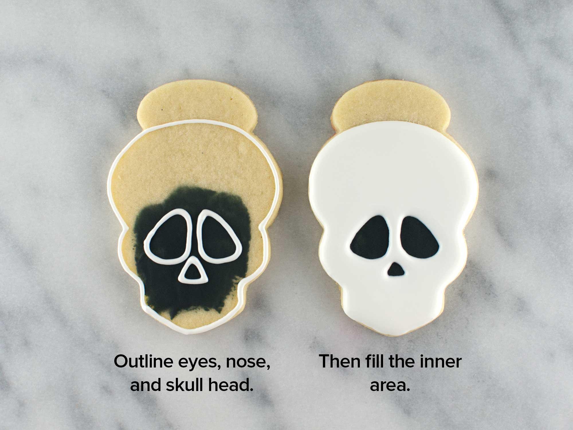 skull girl cookies step 2