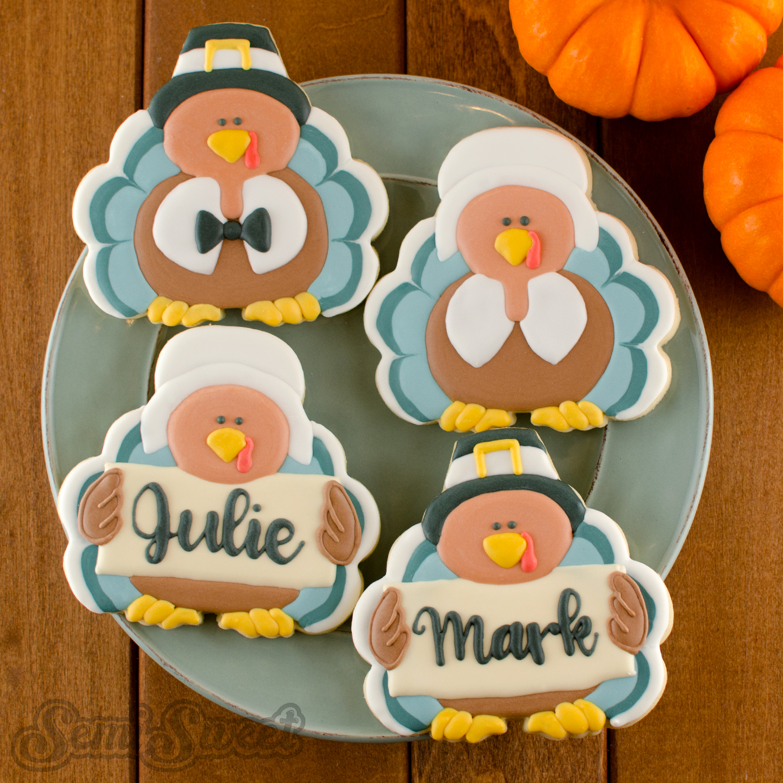Pilgrim Turkey Cookies