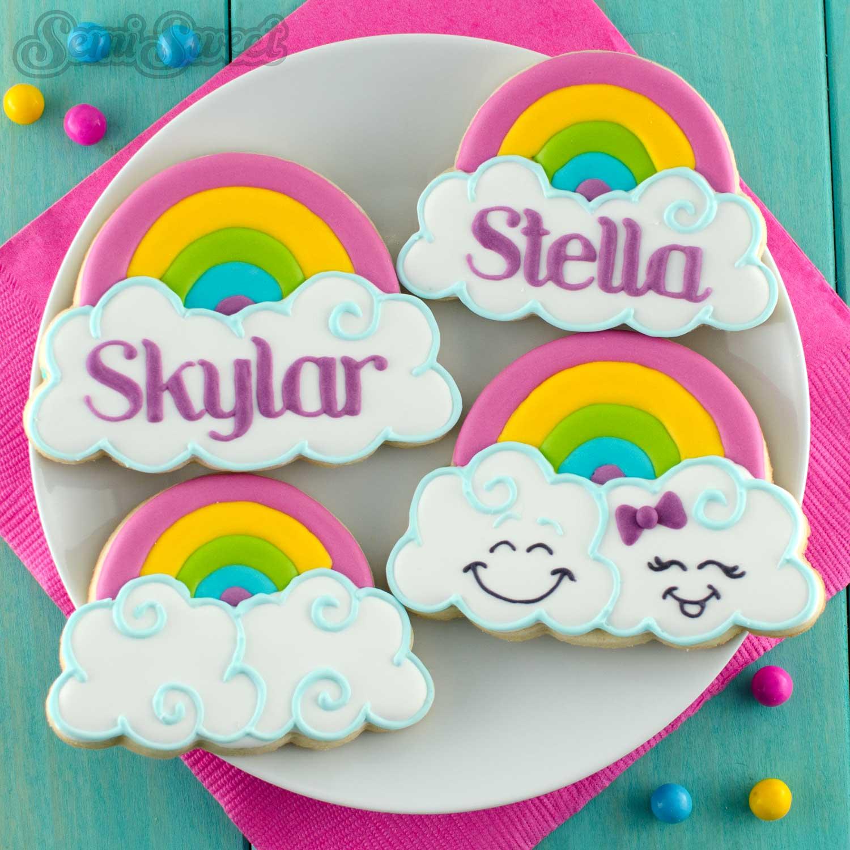 rainbow cloud cookies