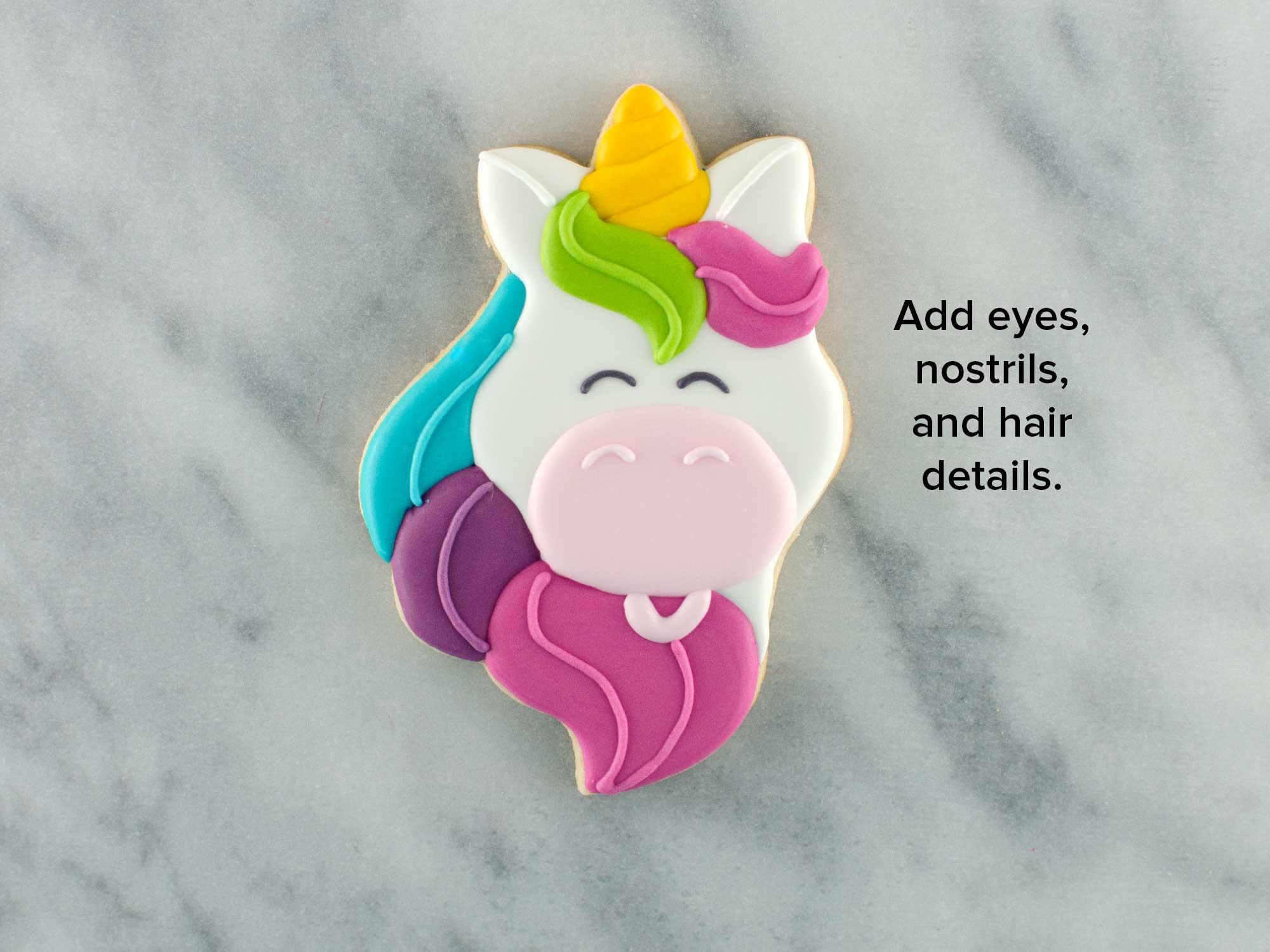 unicorn head cookies step 5