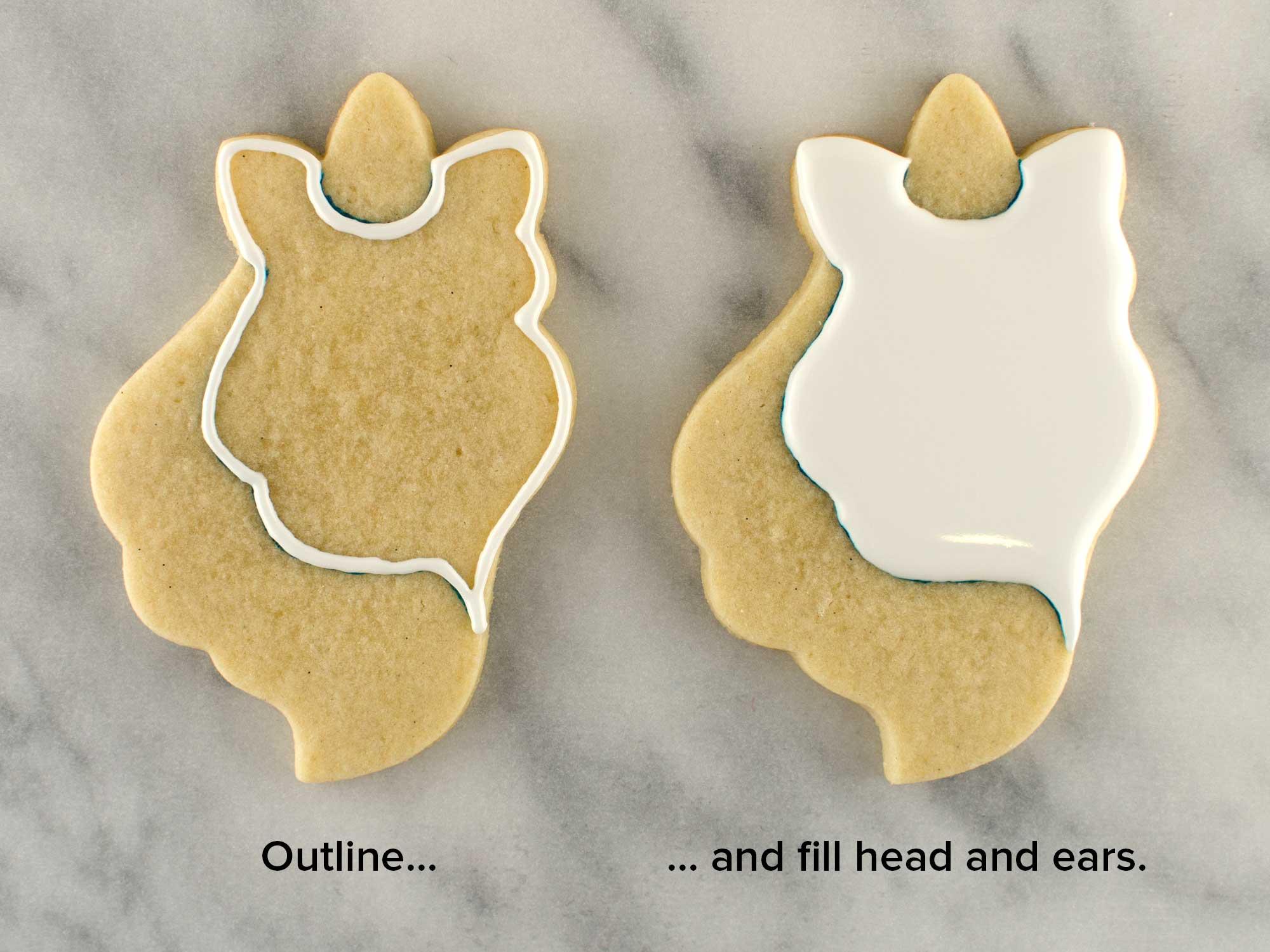 unicorn head cookies step 2