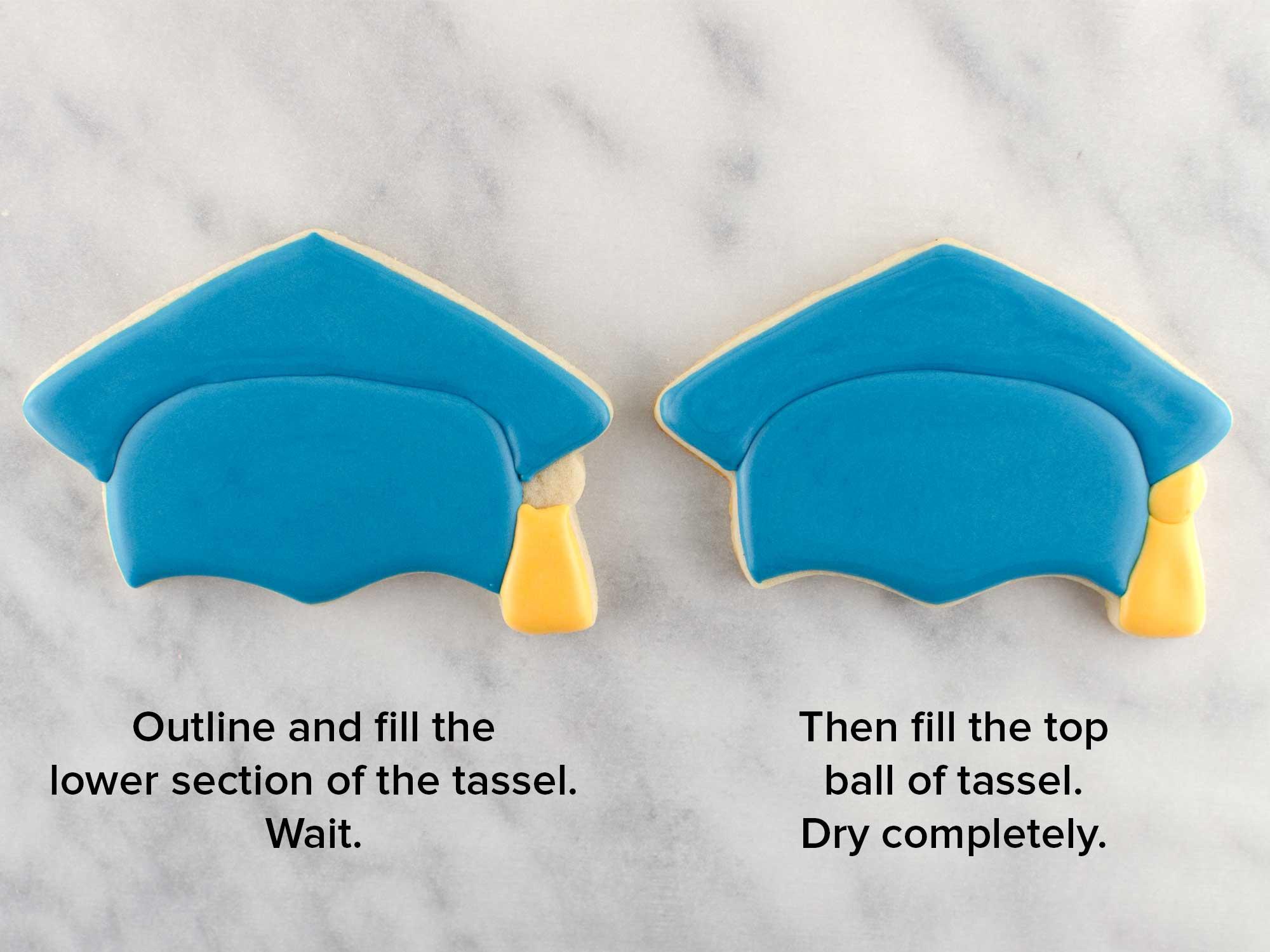 graduation cap cookies step 3