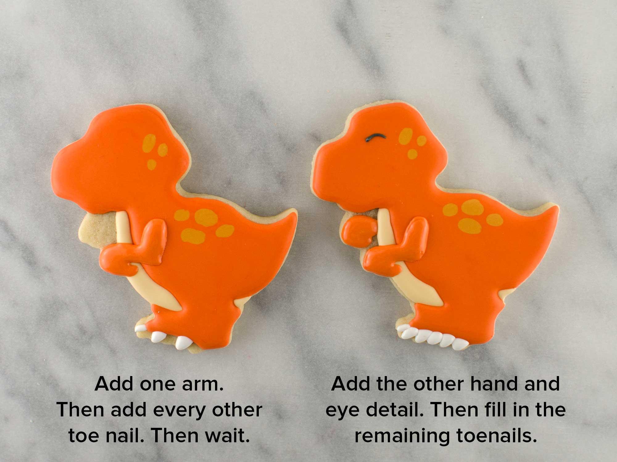dinosaur cookies step 3