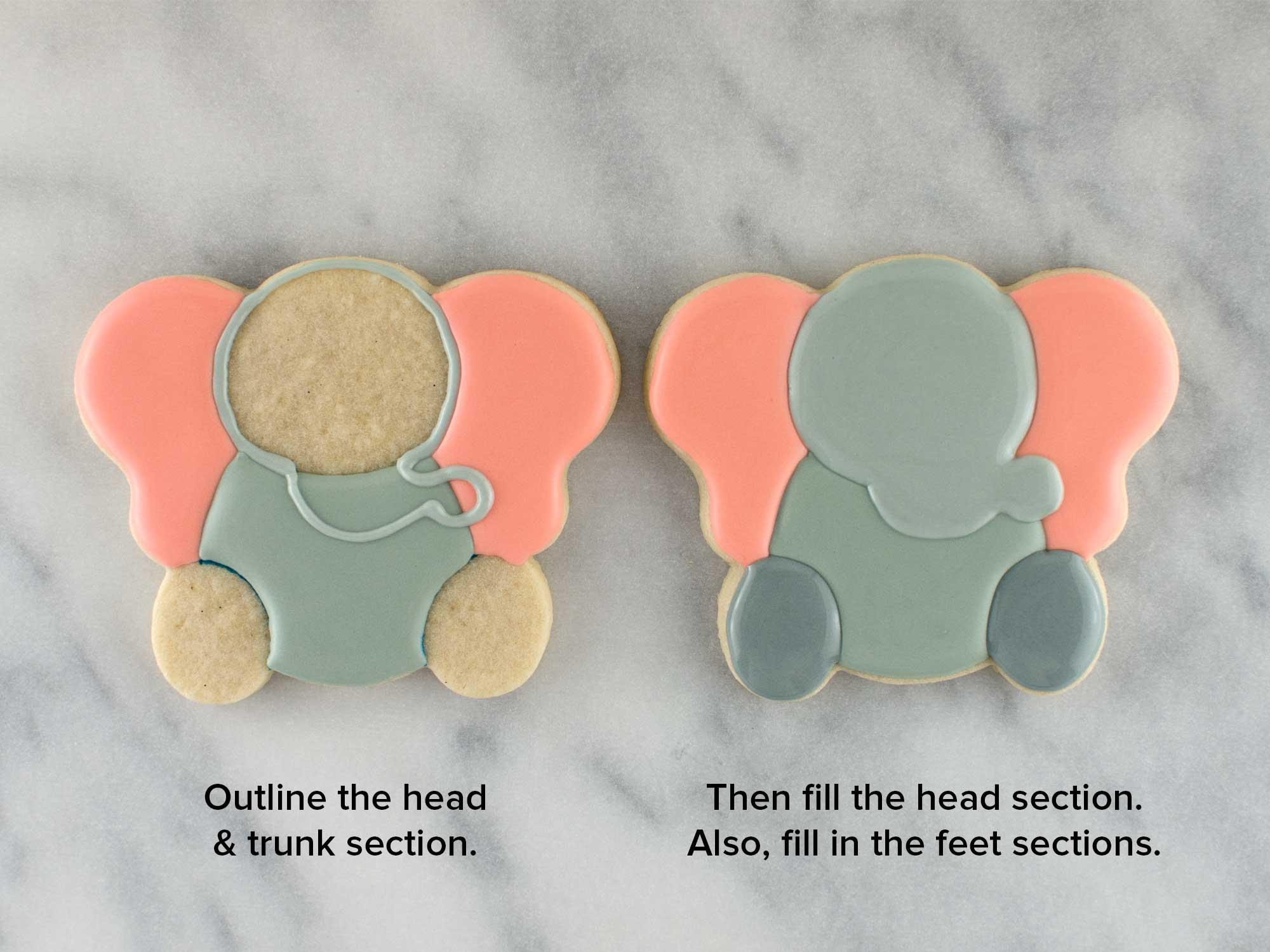 elephant cookies step 3