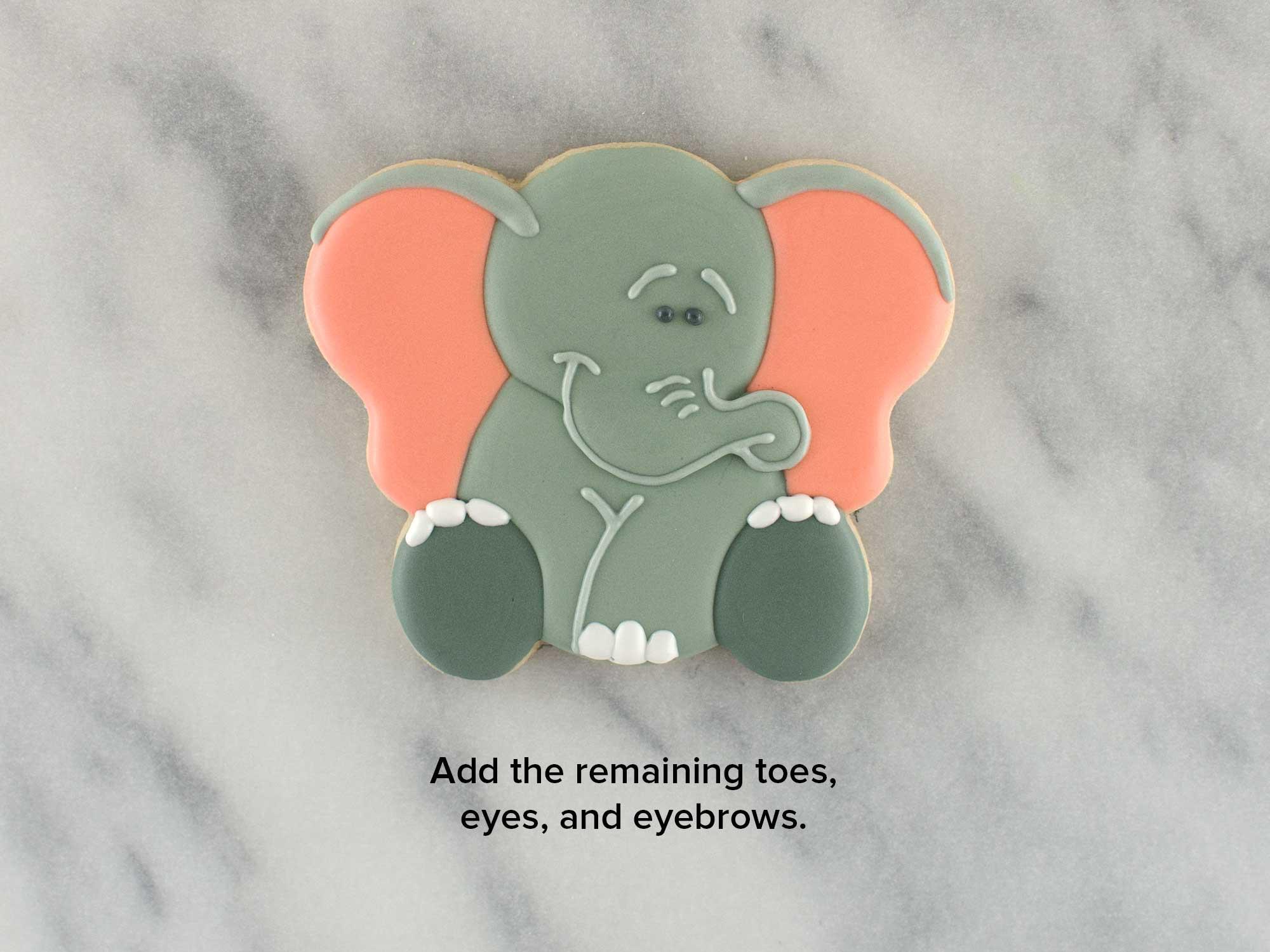 elephant cookies step 5