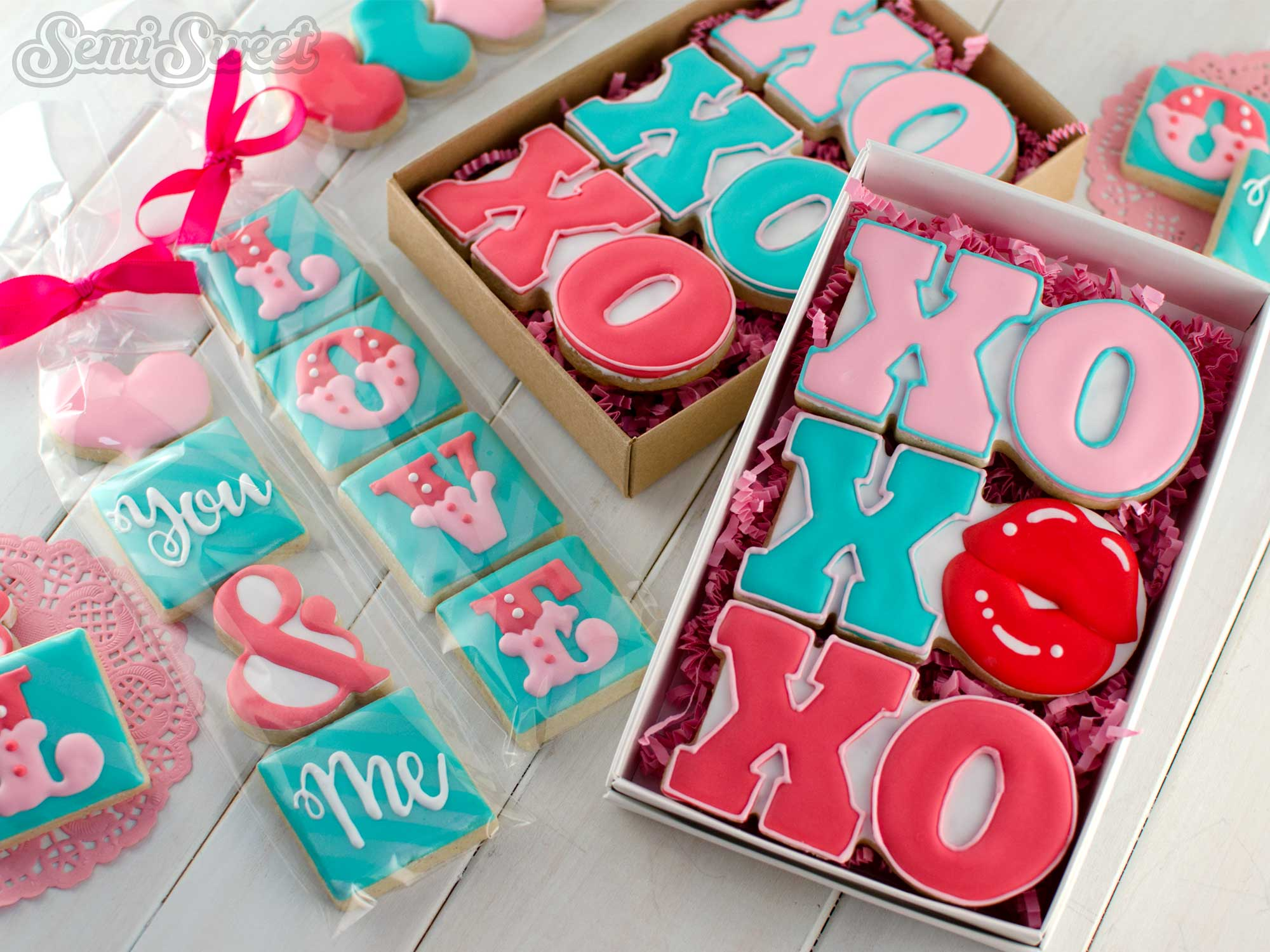 Valentine Cookie Ideas by Semi Sweet Designs