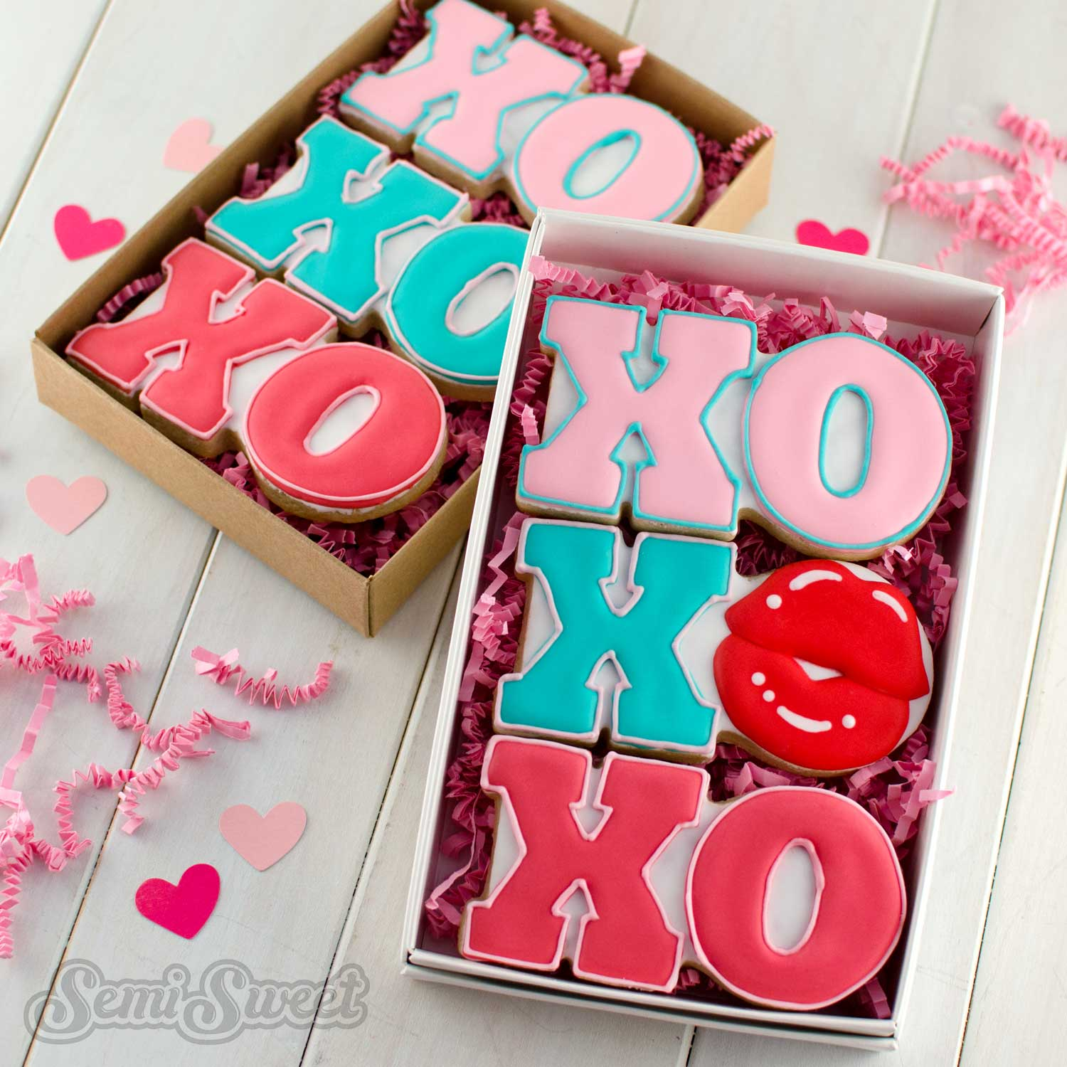 XO Valentine Cookie Set