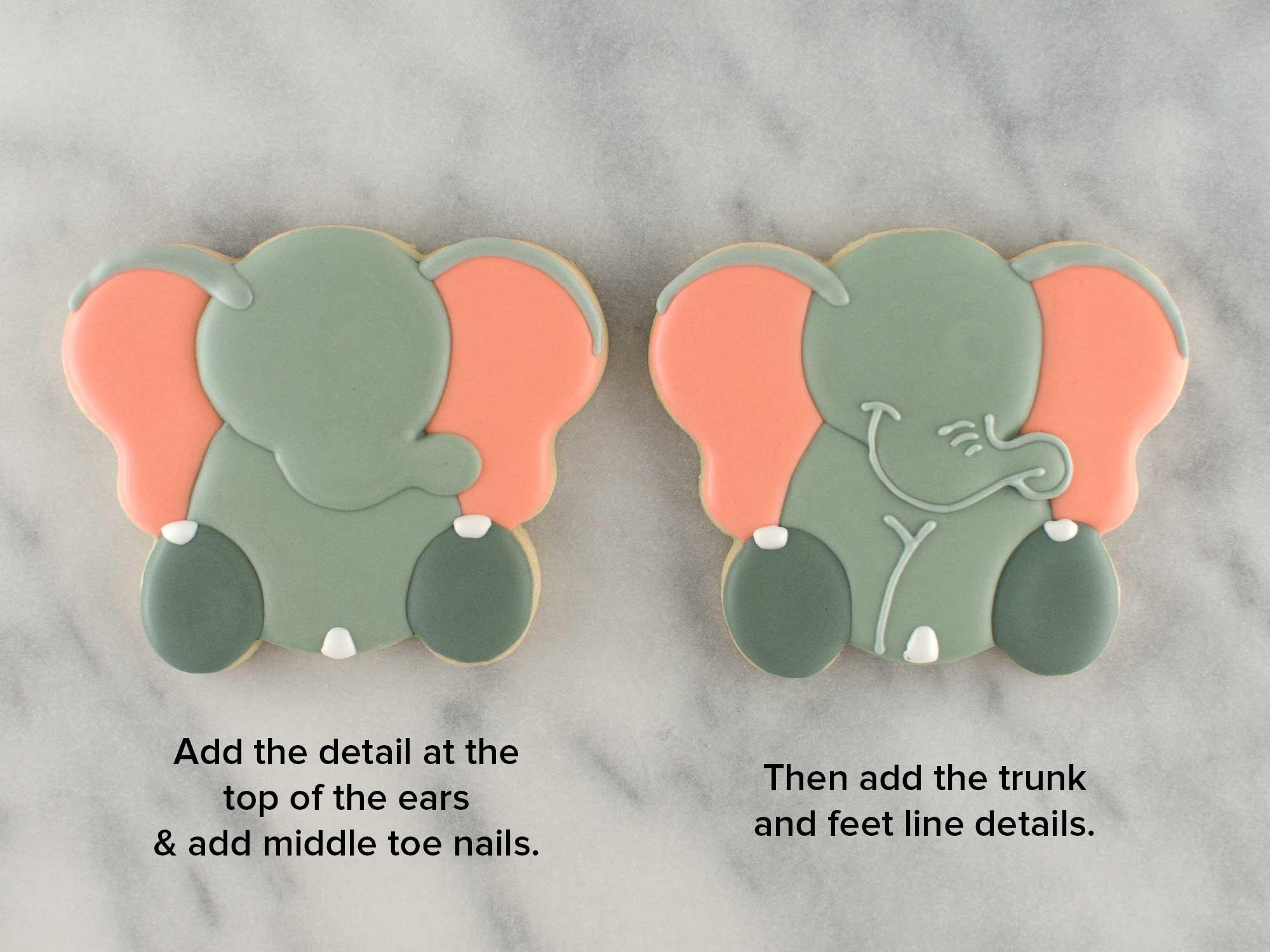 elephant cookies step 4