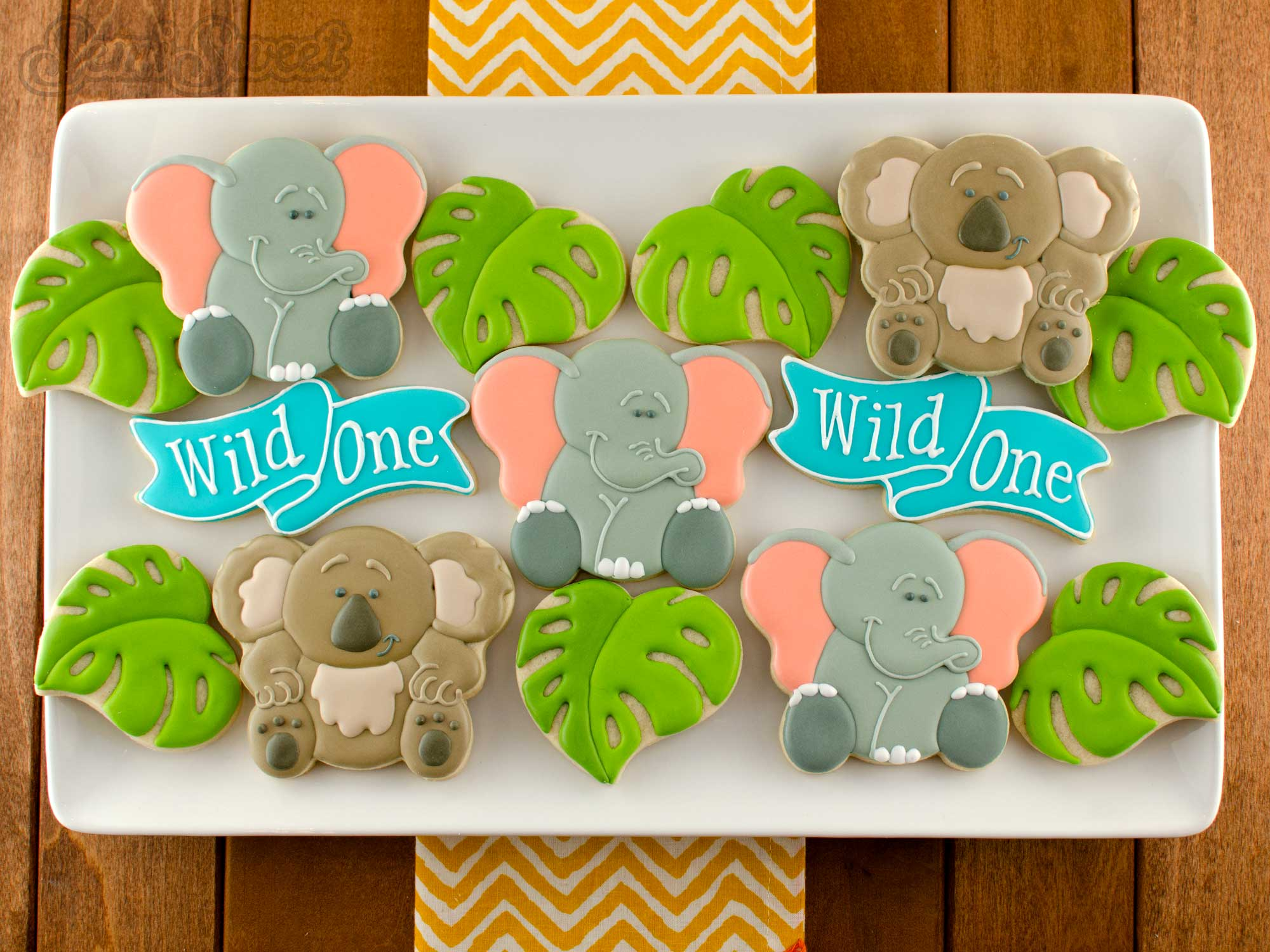 How to Make Elephant Cookies by Semi Sweet Designs