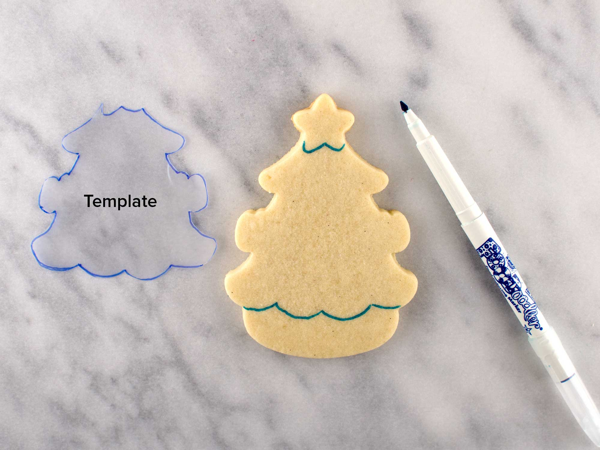 christmas tree cookie step 1