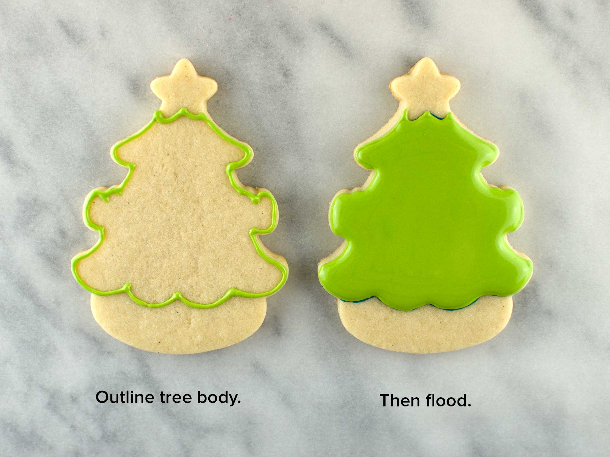 christmas tree cookie step 2