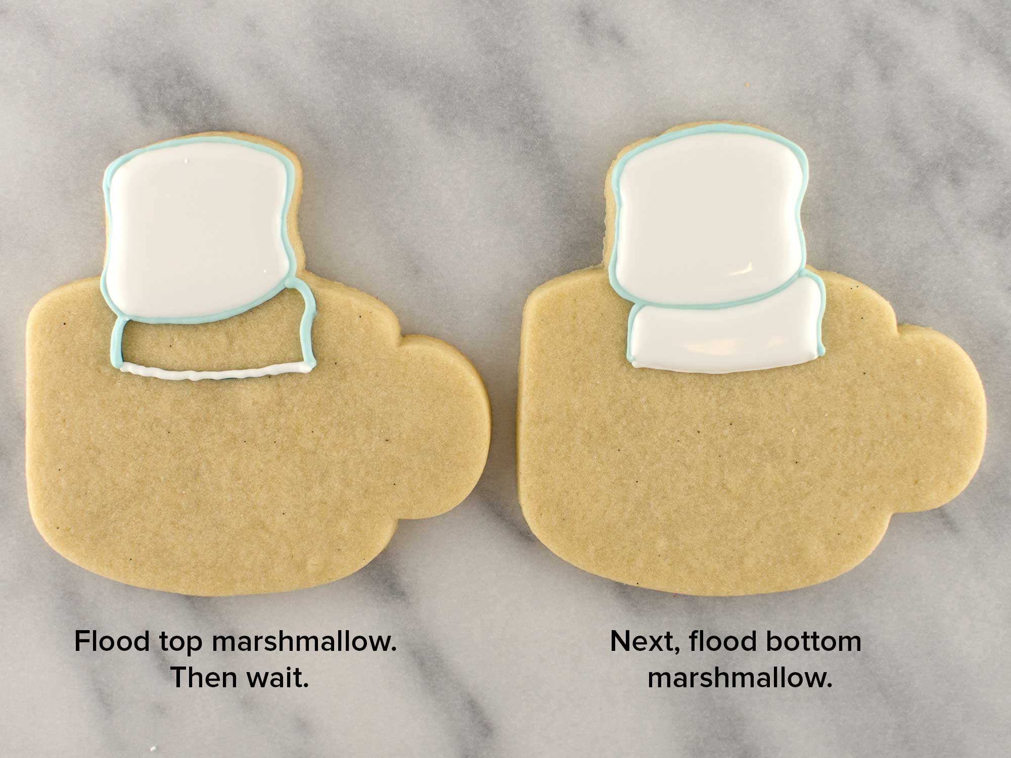 marshmallow snowman cookies step 3