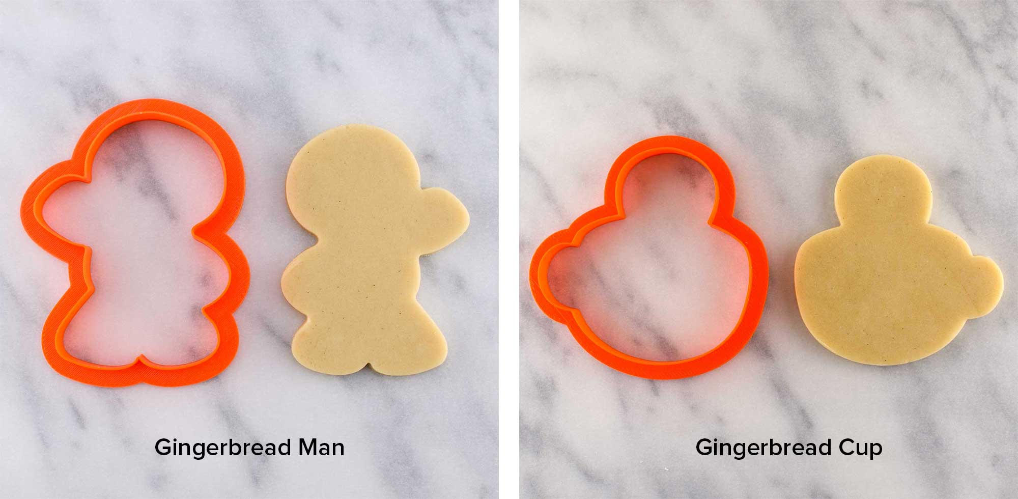 gingerbread man and in a cup cookie cutters