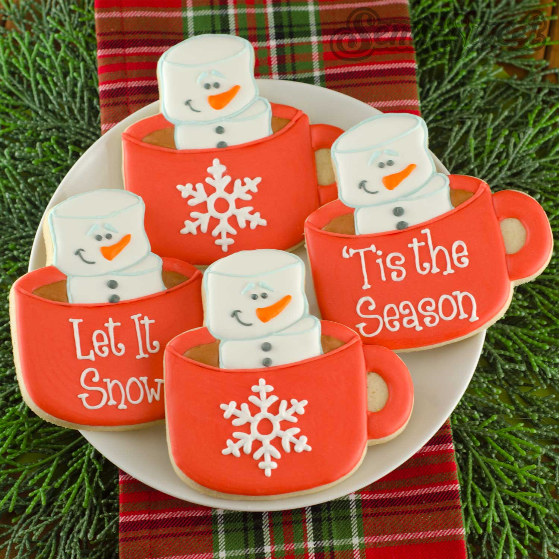 marshmallow snowman mug cookies