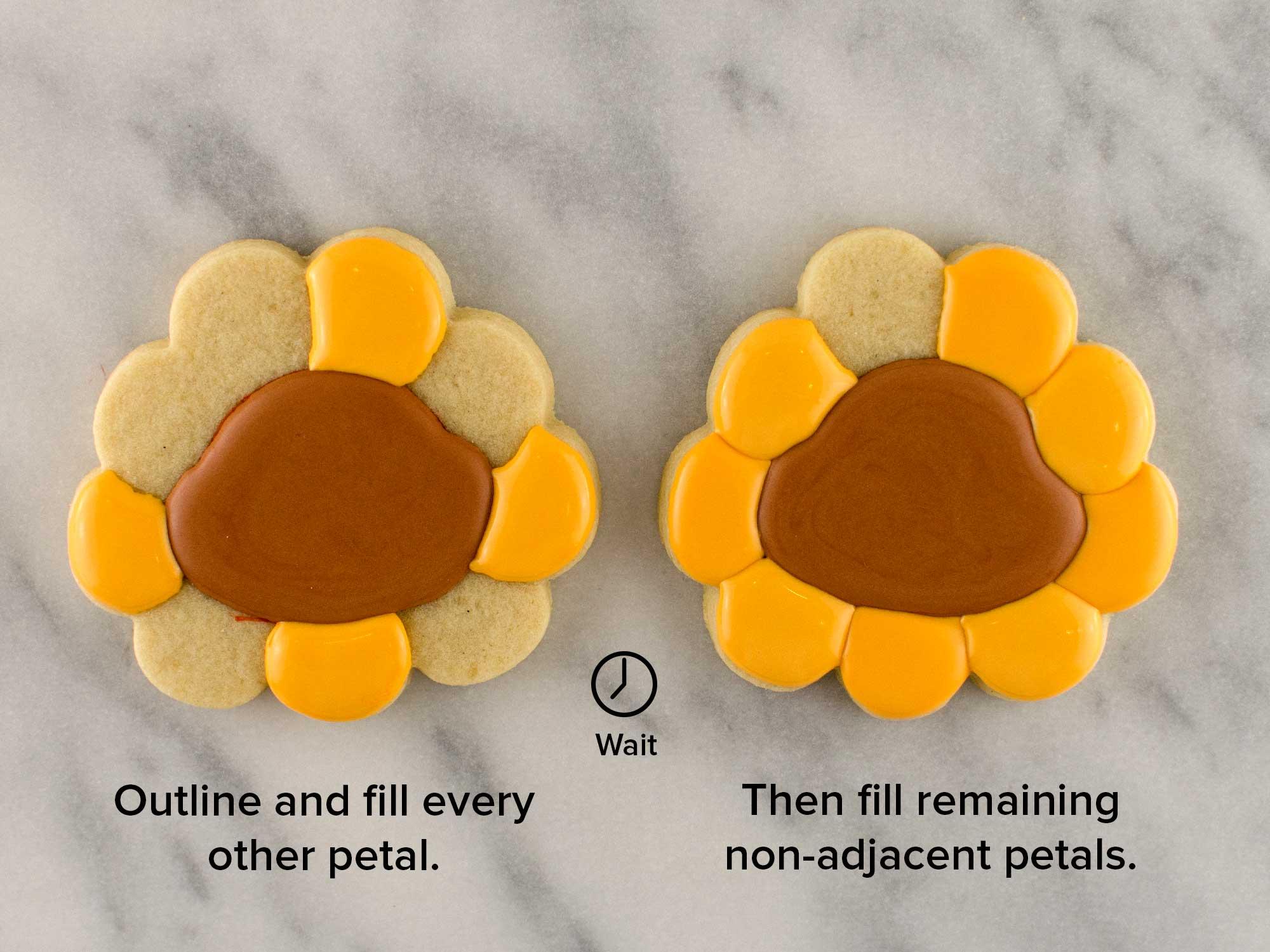 cheeky sunflower cookies step 3