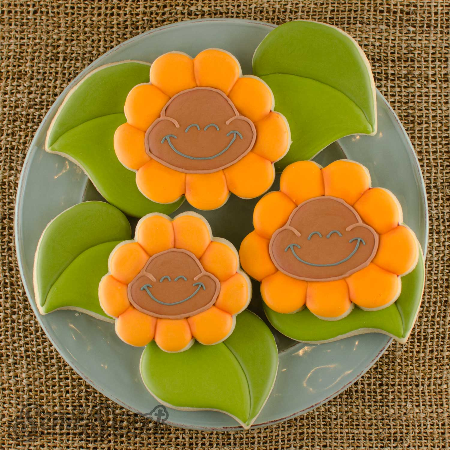 cheeky sunflower cookies square