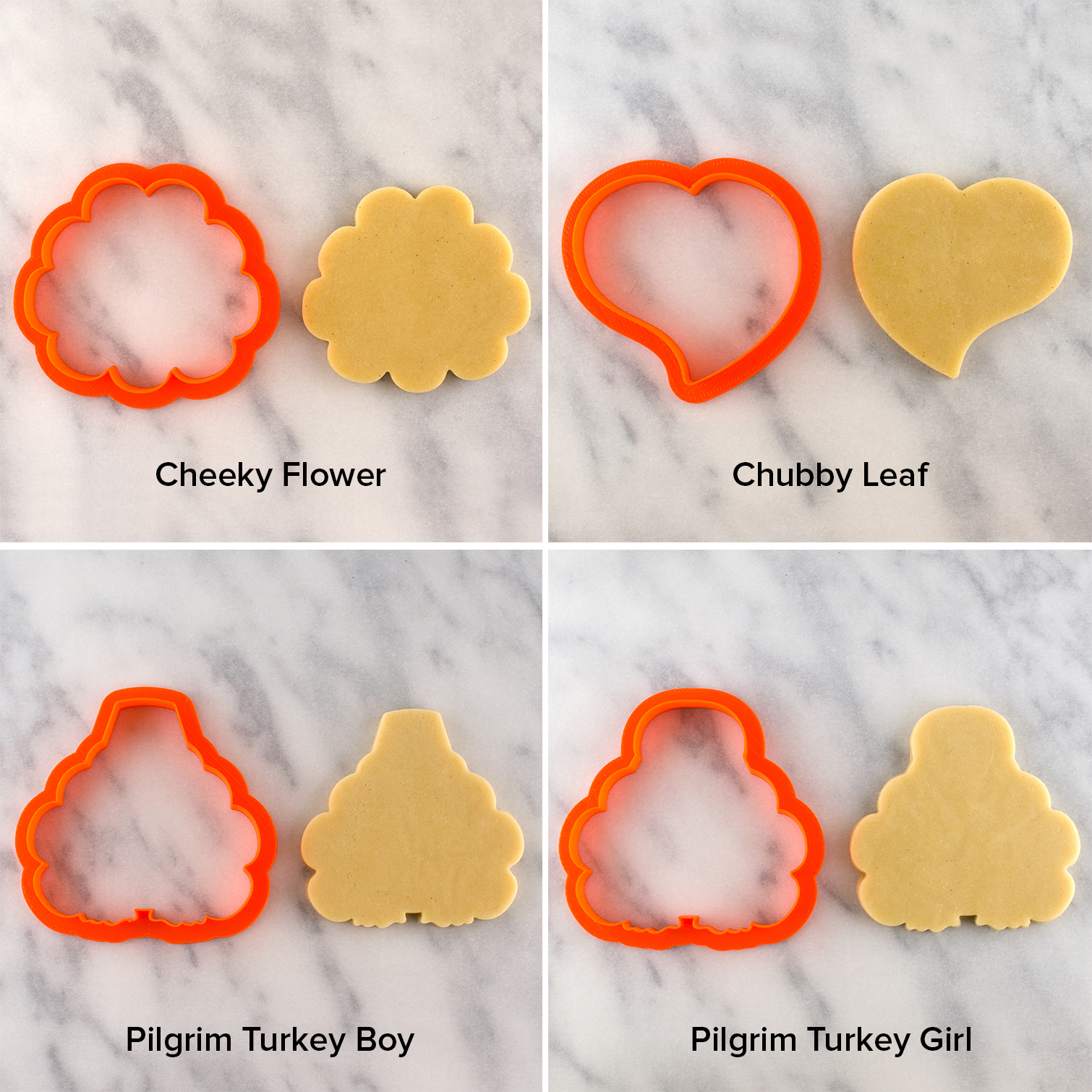 flower and turkey cookie cutters