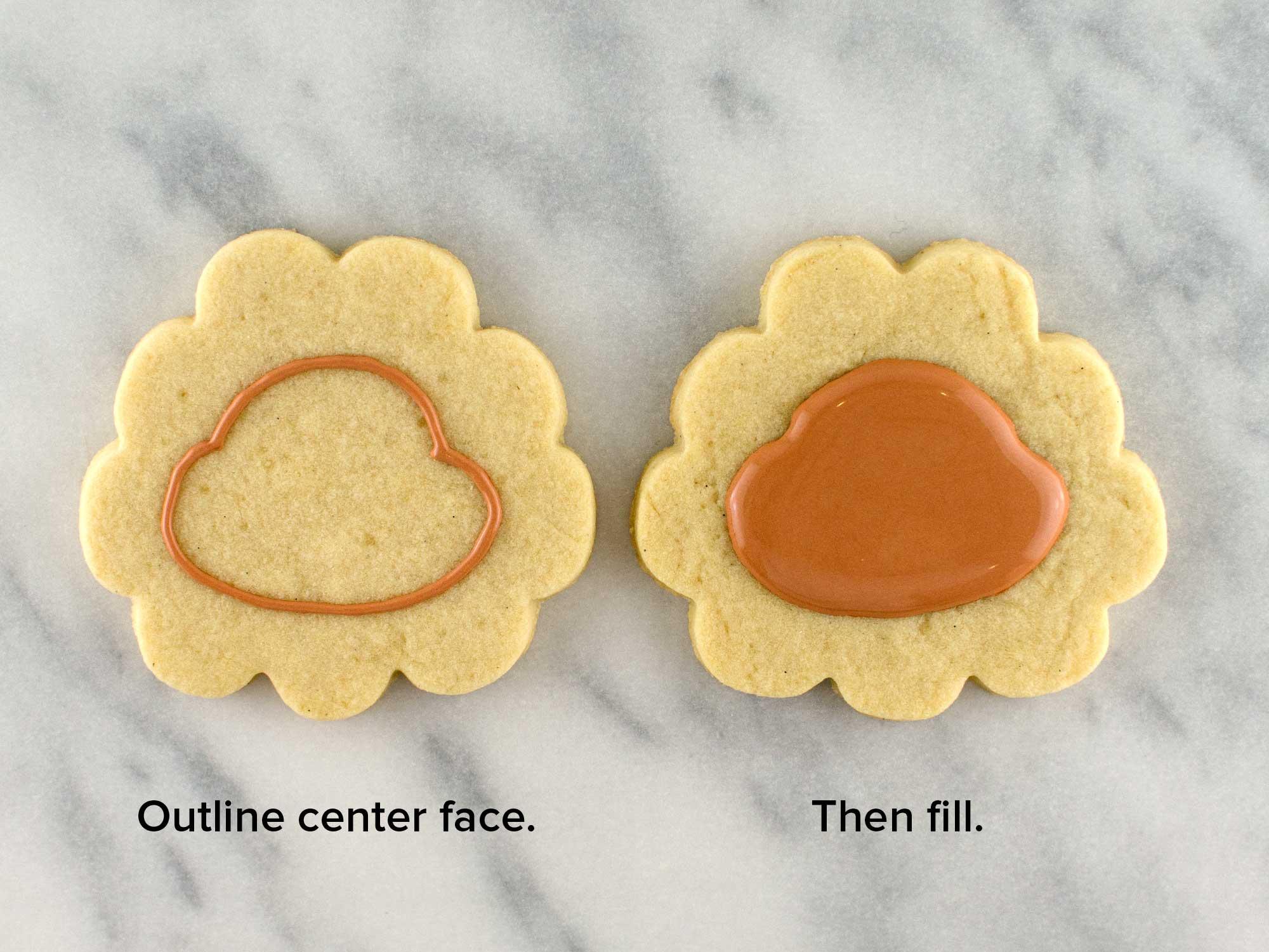 cheeky sunflower cookies step 2