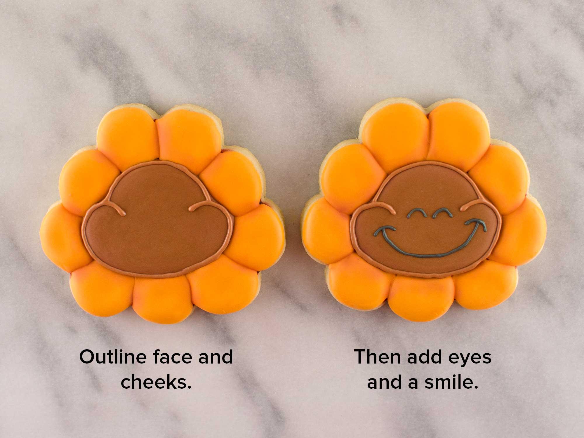 cheeky sunflower cookies step 5