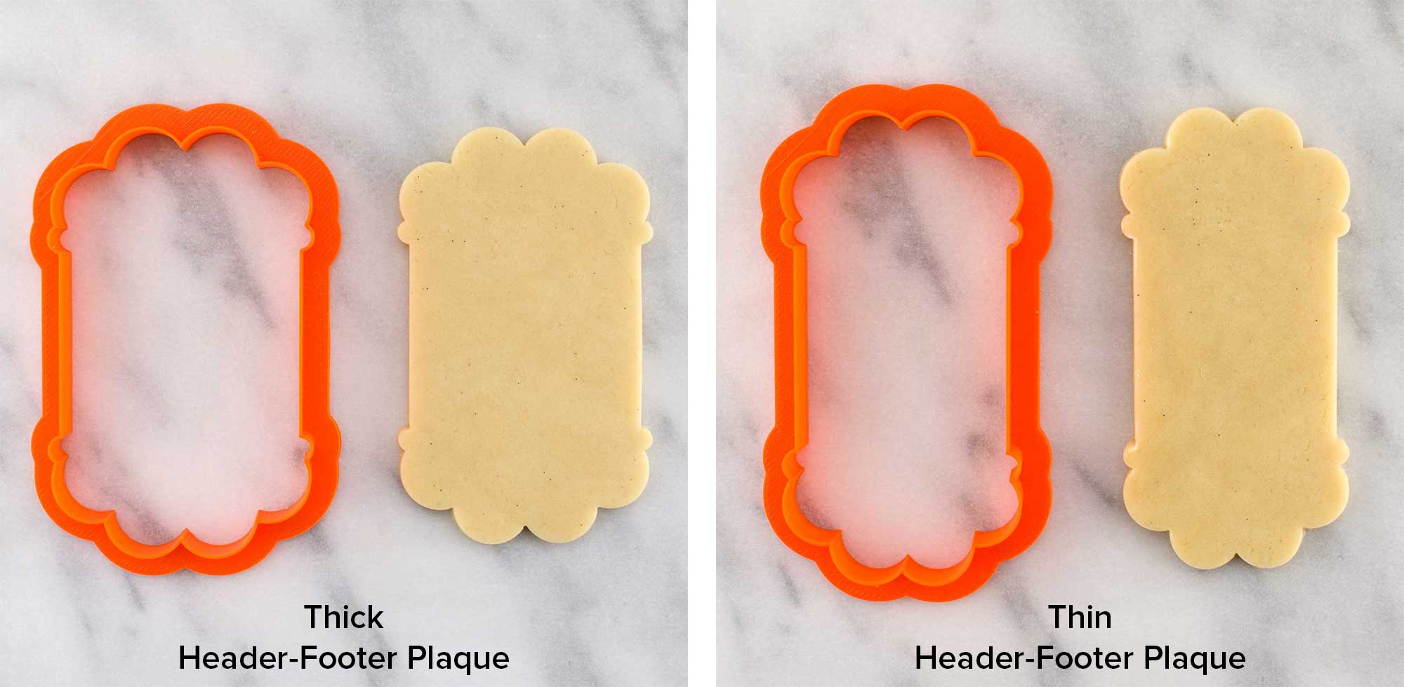 header footer plaque cookie cutter