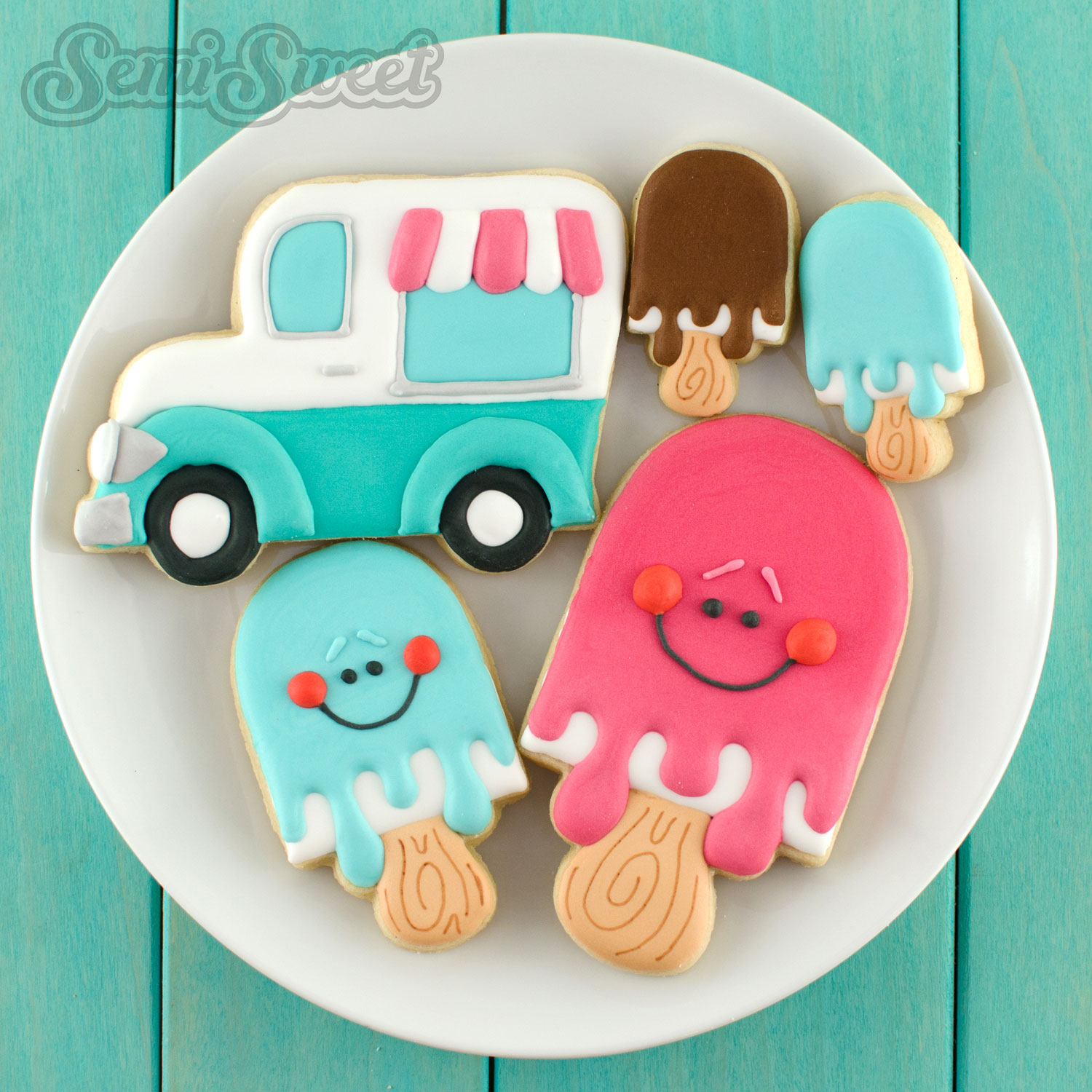 decorated popsicle cookies