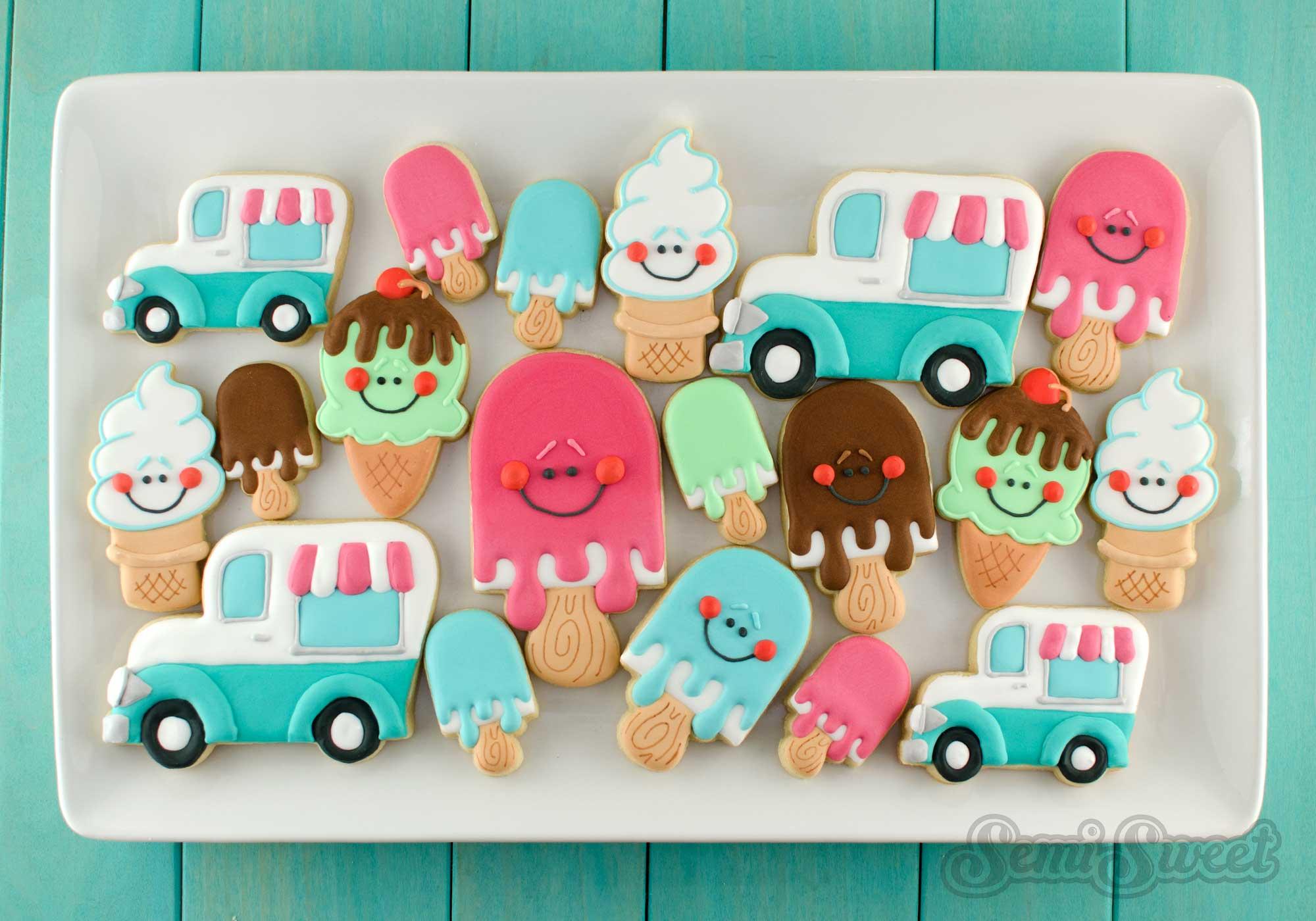 ice cream cookie platter