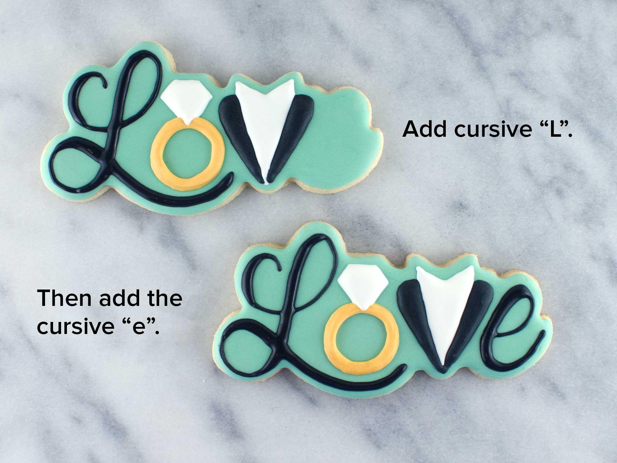 wedding love cookies step 3