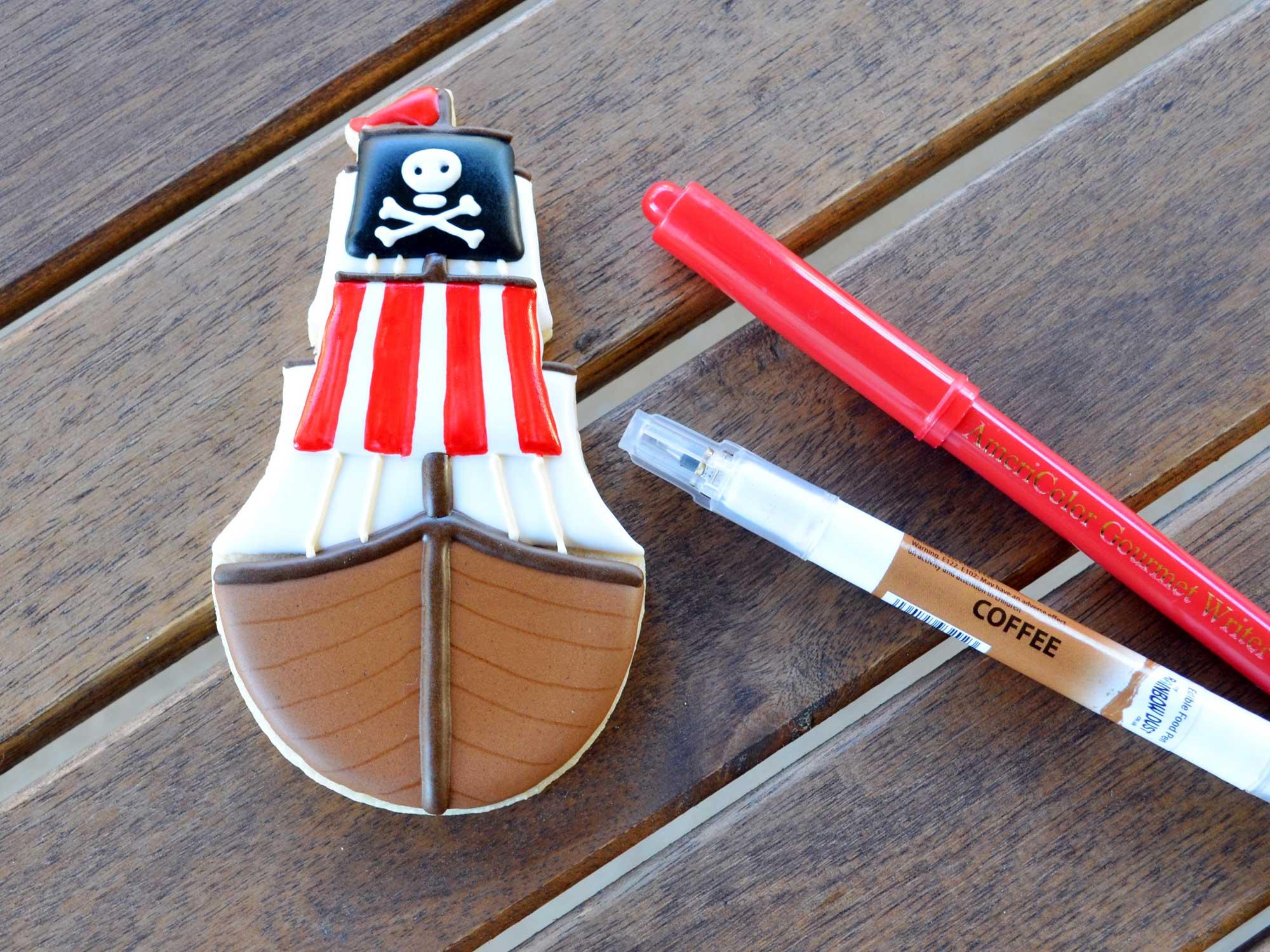 pirate ship cookies step 7