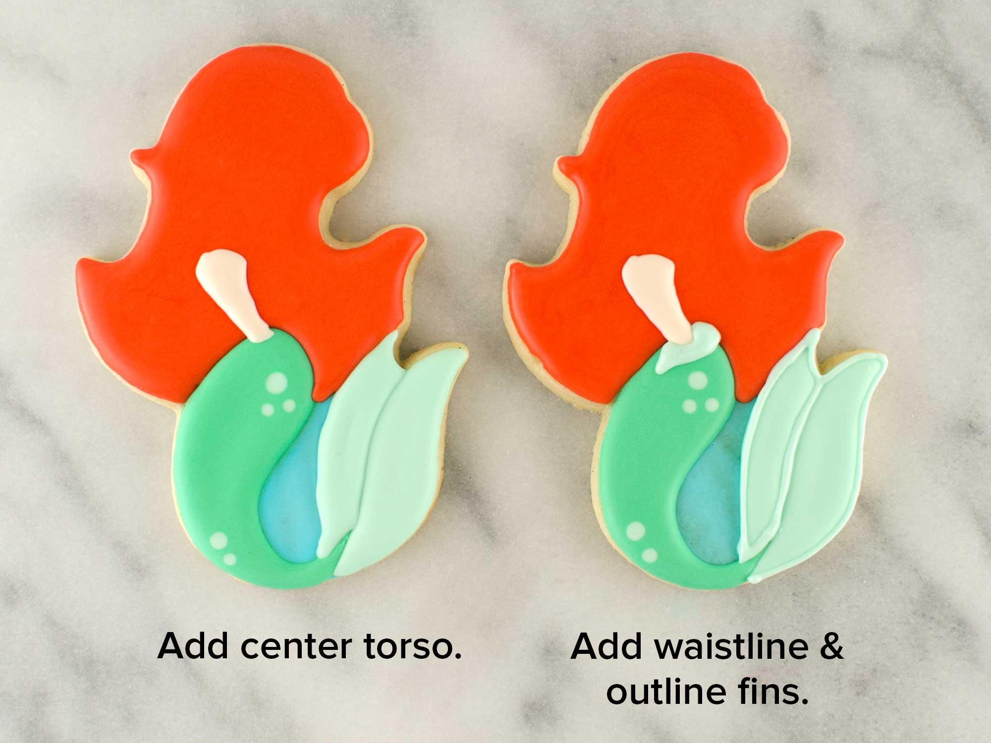 mermaid cookies step 5