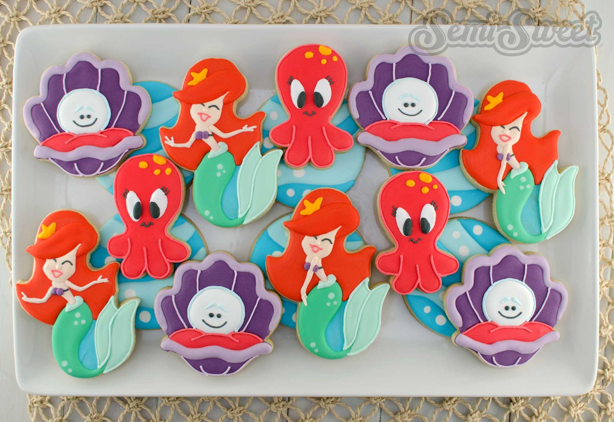Under the Sea mermaid cookie platter