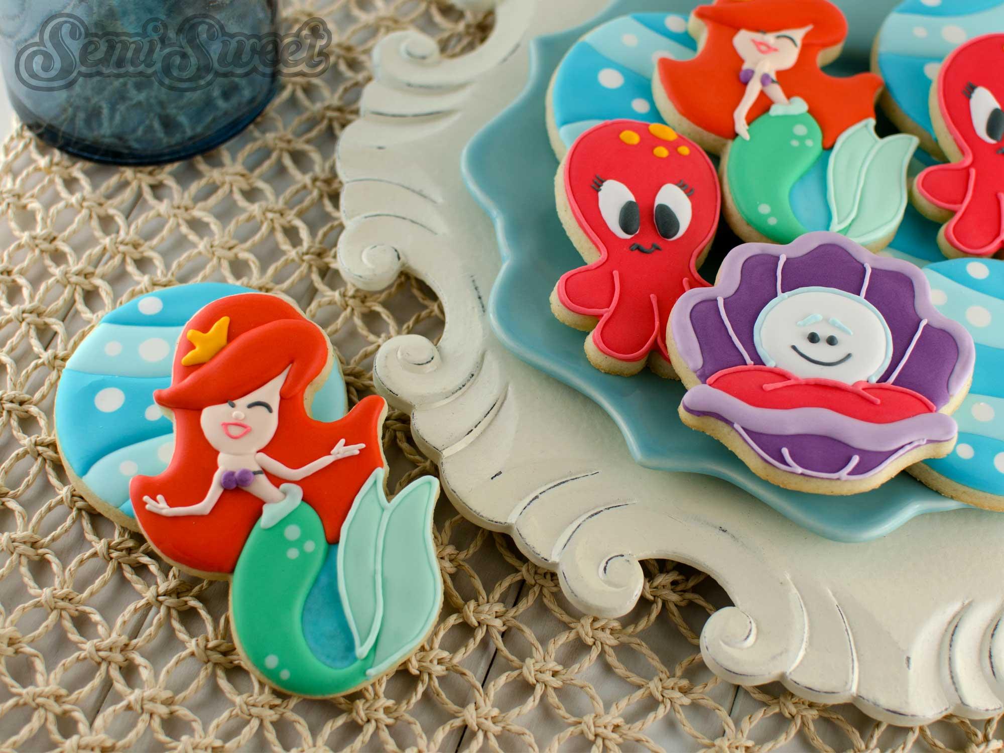 How to Make Mermaid Cookies by Semi Sweet Designs