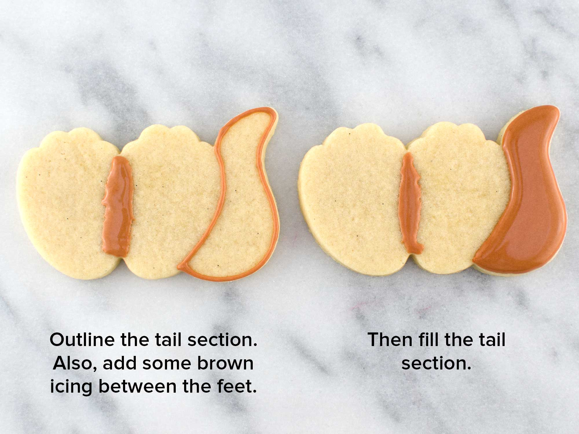 otter cookie feet step 1