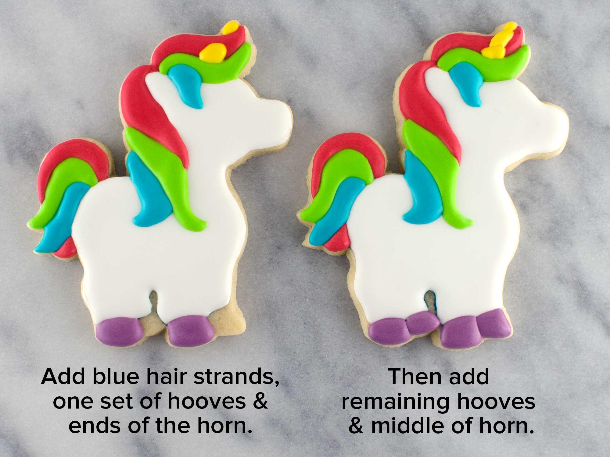 unicorn cookies step 4