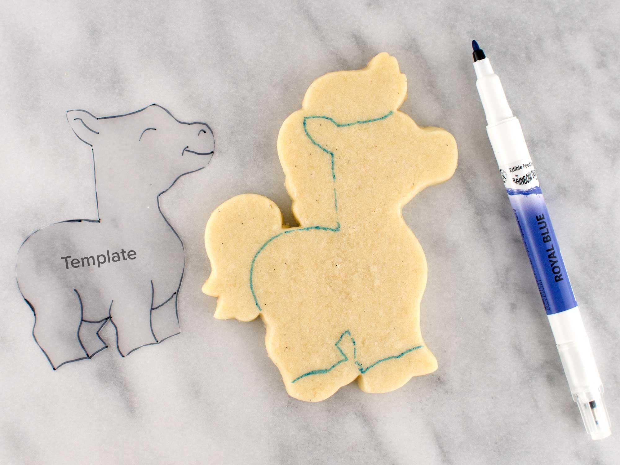 unicorn cookies step 1