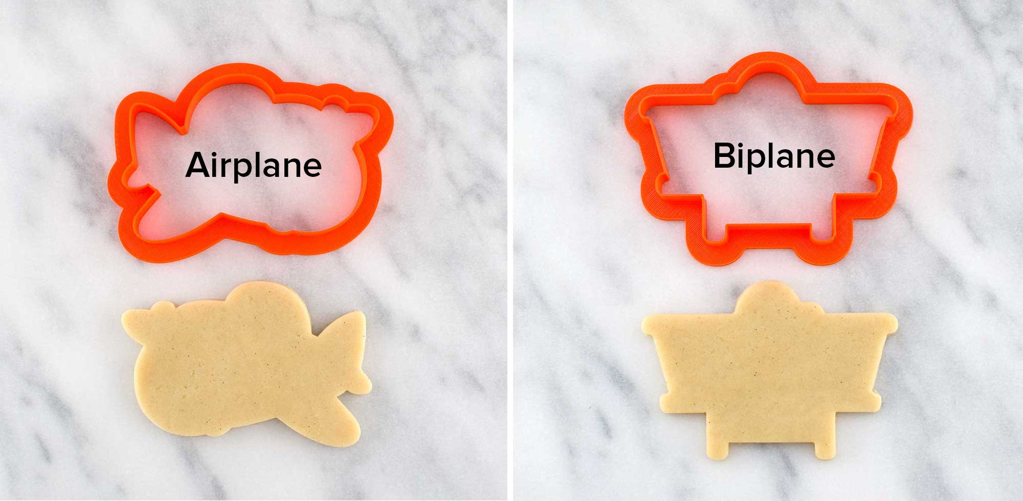 Airplane cookie cutters by Semi Sweet Designs