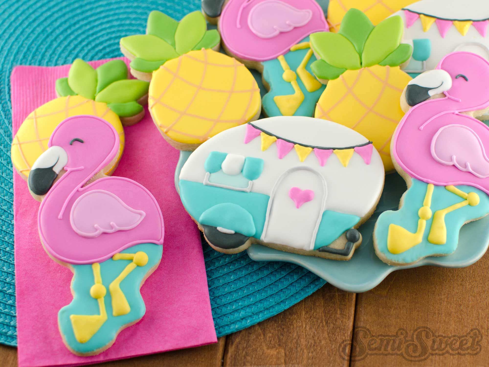 How to Make Flamingo Cookies