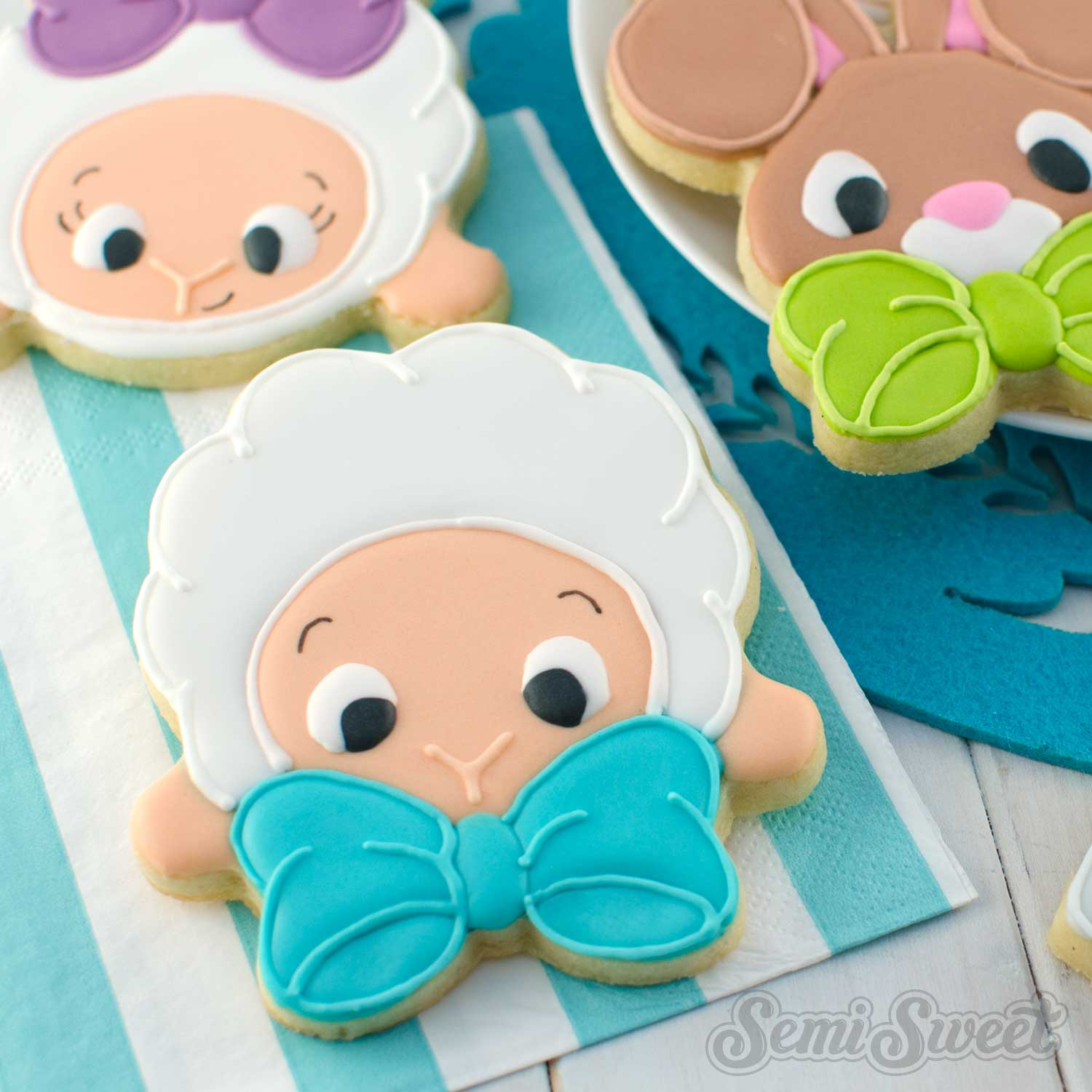 How to Make Bow Tie Lamb Cookies