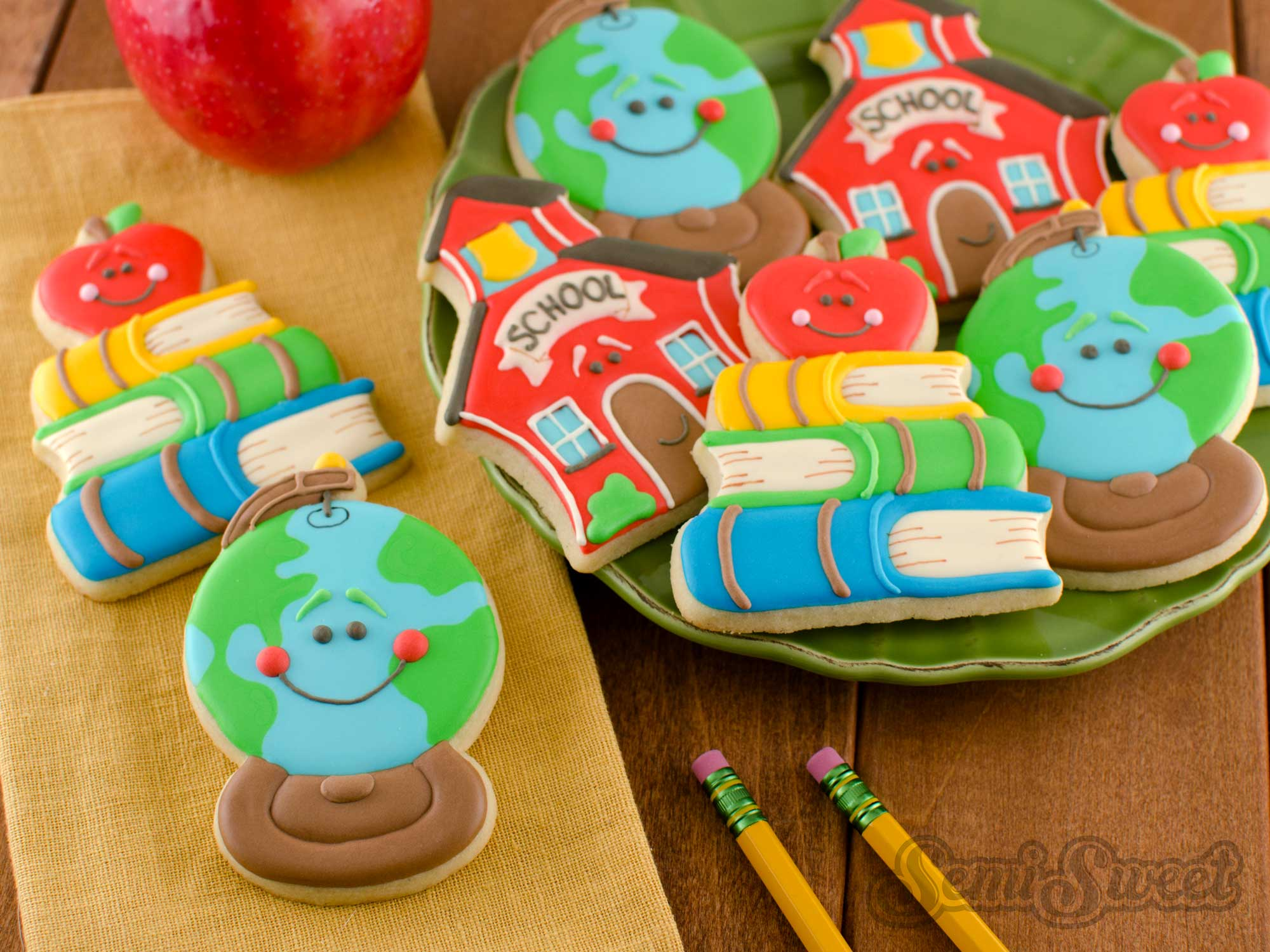 How to Make Schoolhouse Globe Cookies