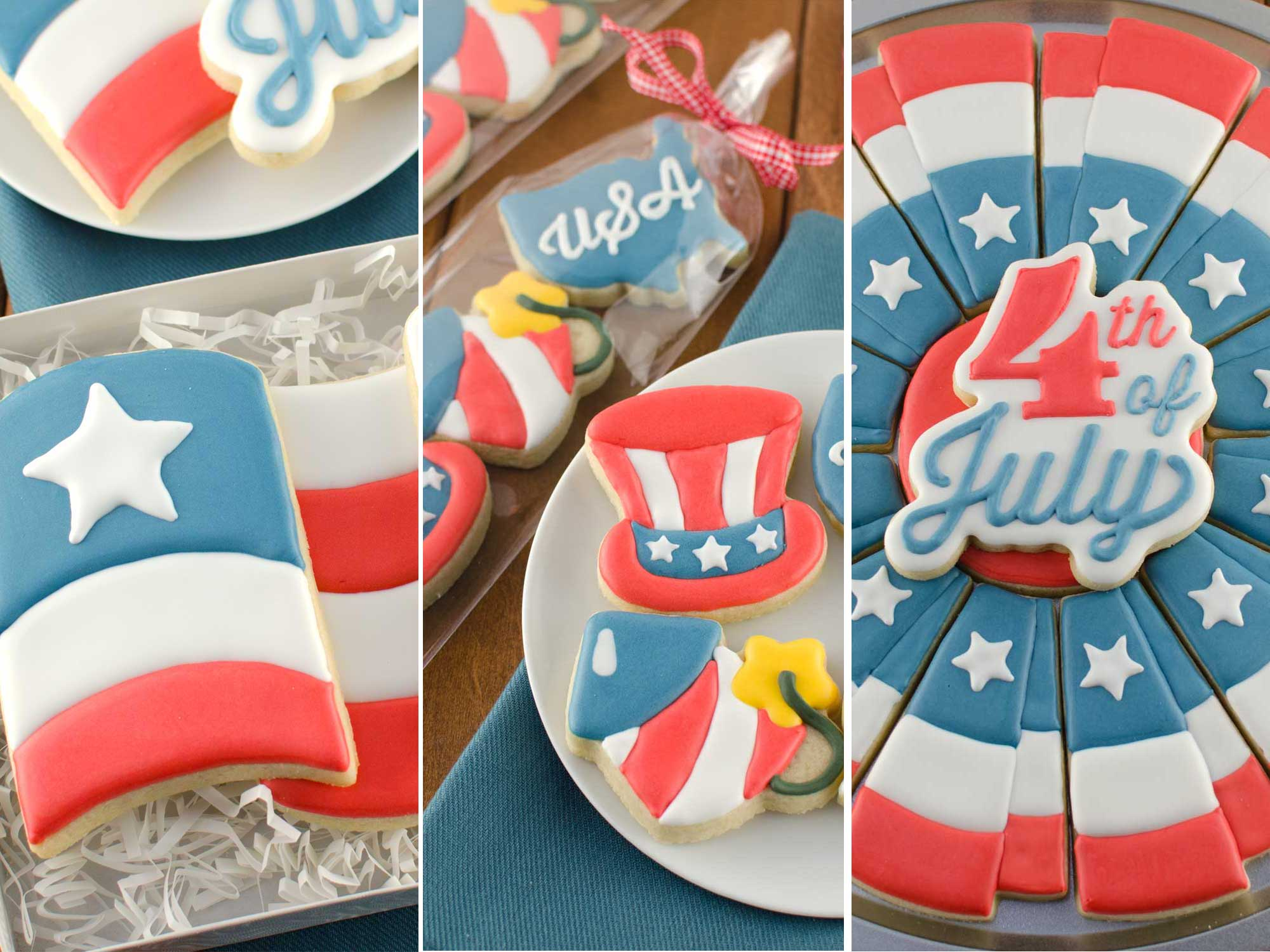 New 4th of July Cookie Cutters and Designs