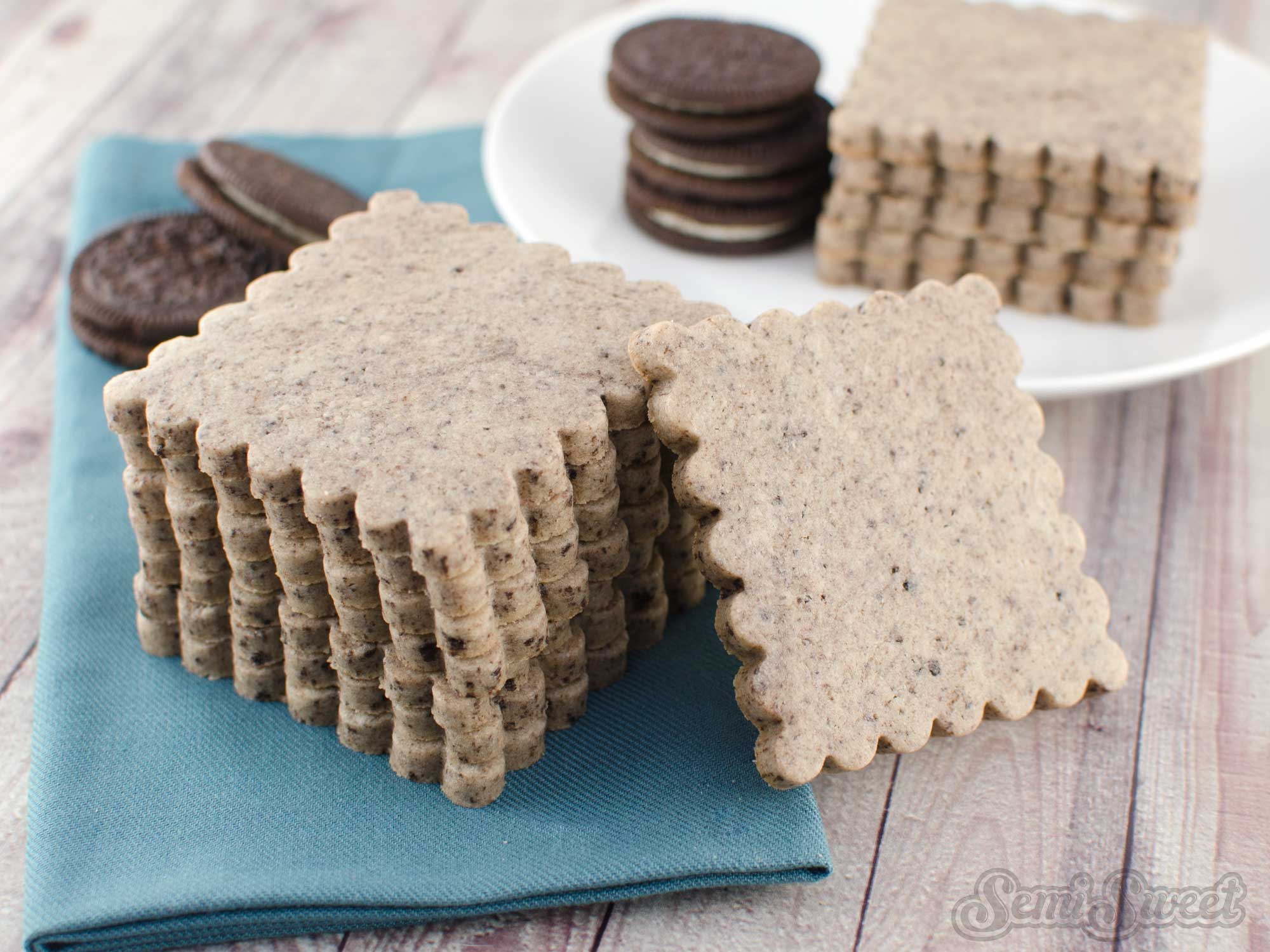 Cookies and Cream Cut-Out Cookies