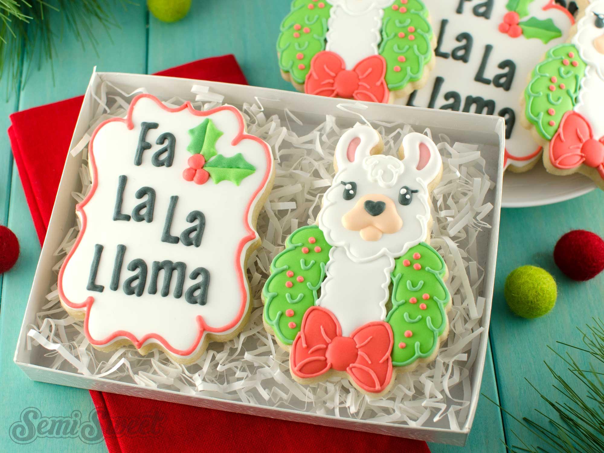 How to Make Christmas Llama Cookies