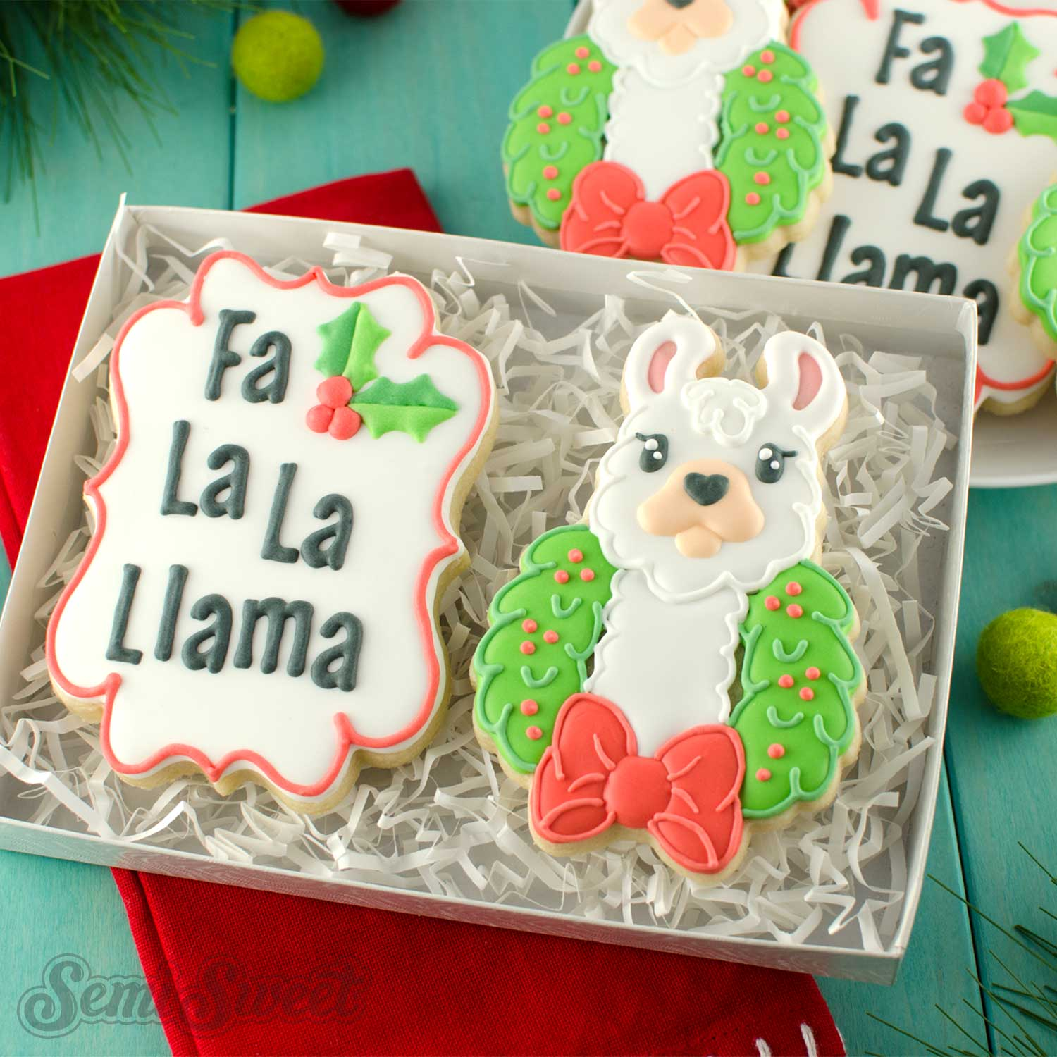 How to Make Christmas Llama Cookies