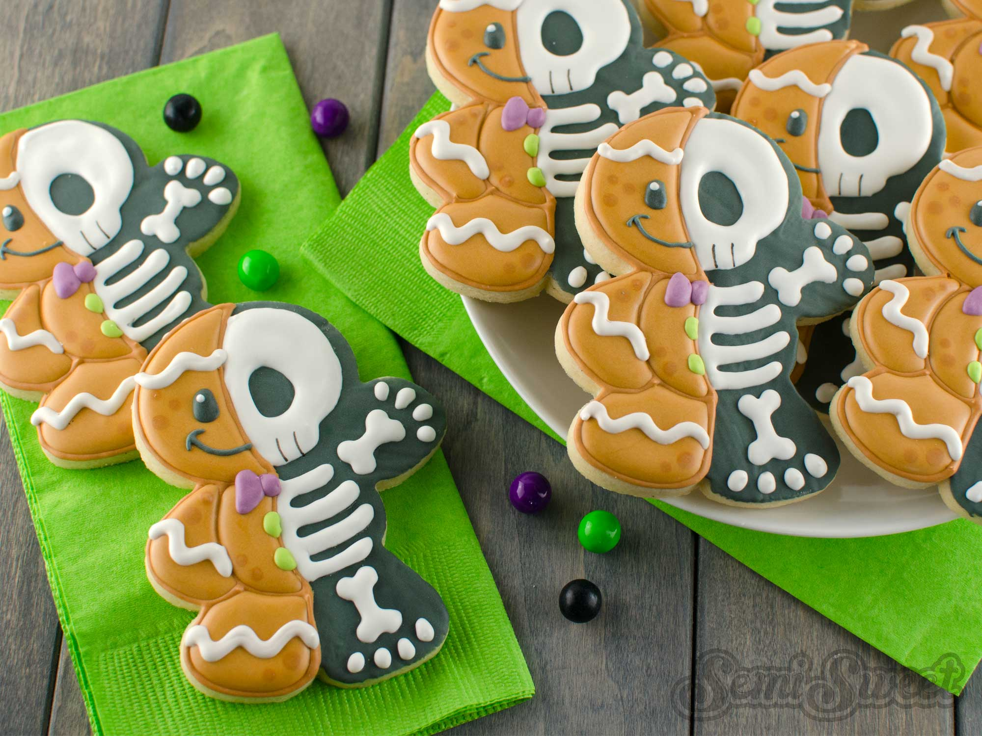 How to Make Gingerbread Man Skeleton Cookies
