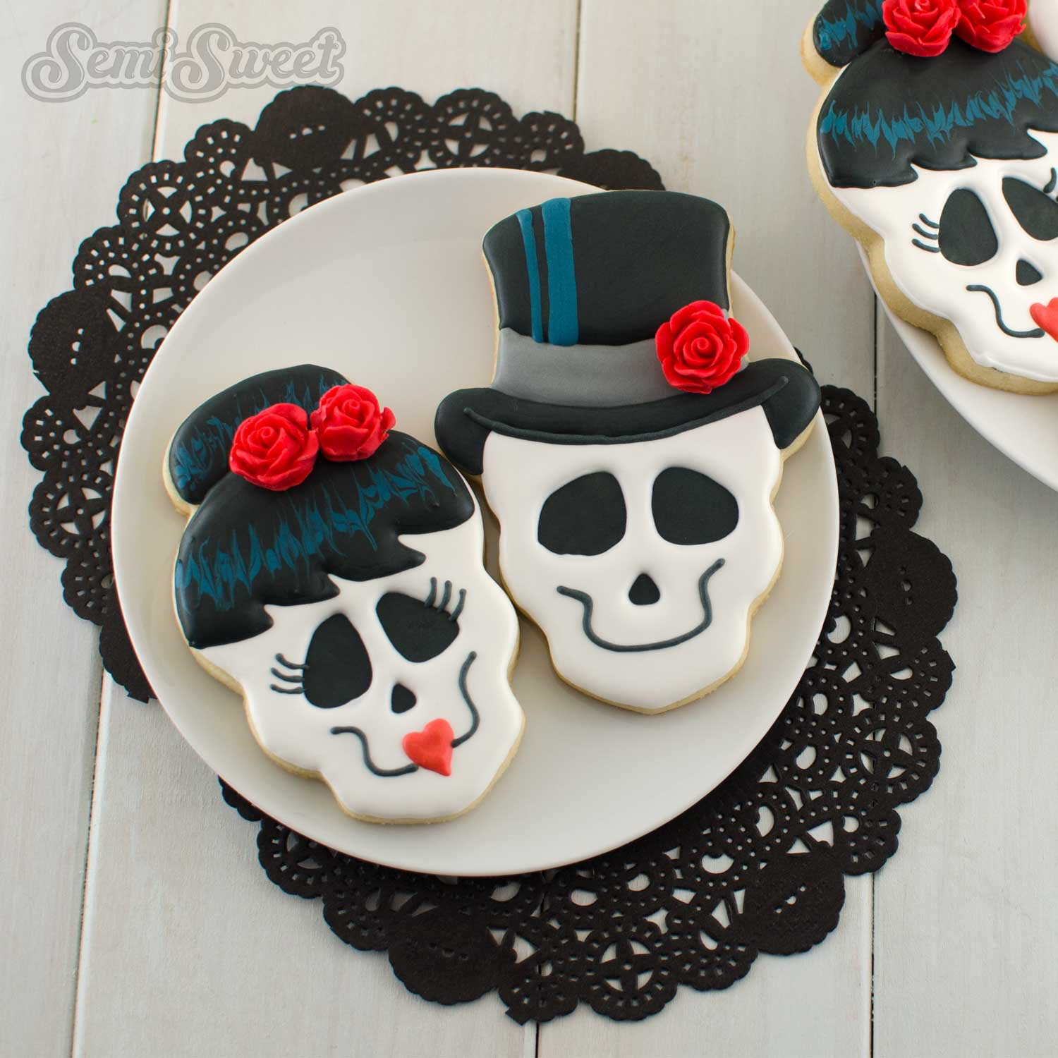 How to Make Skull Girl Cookies