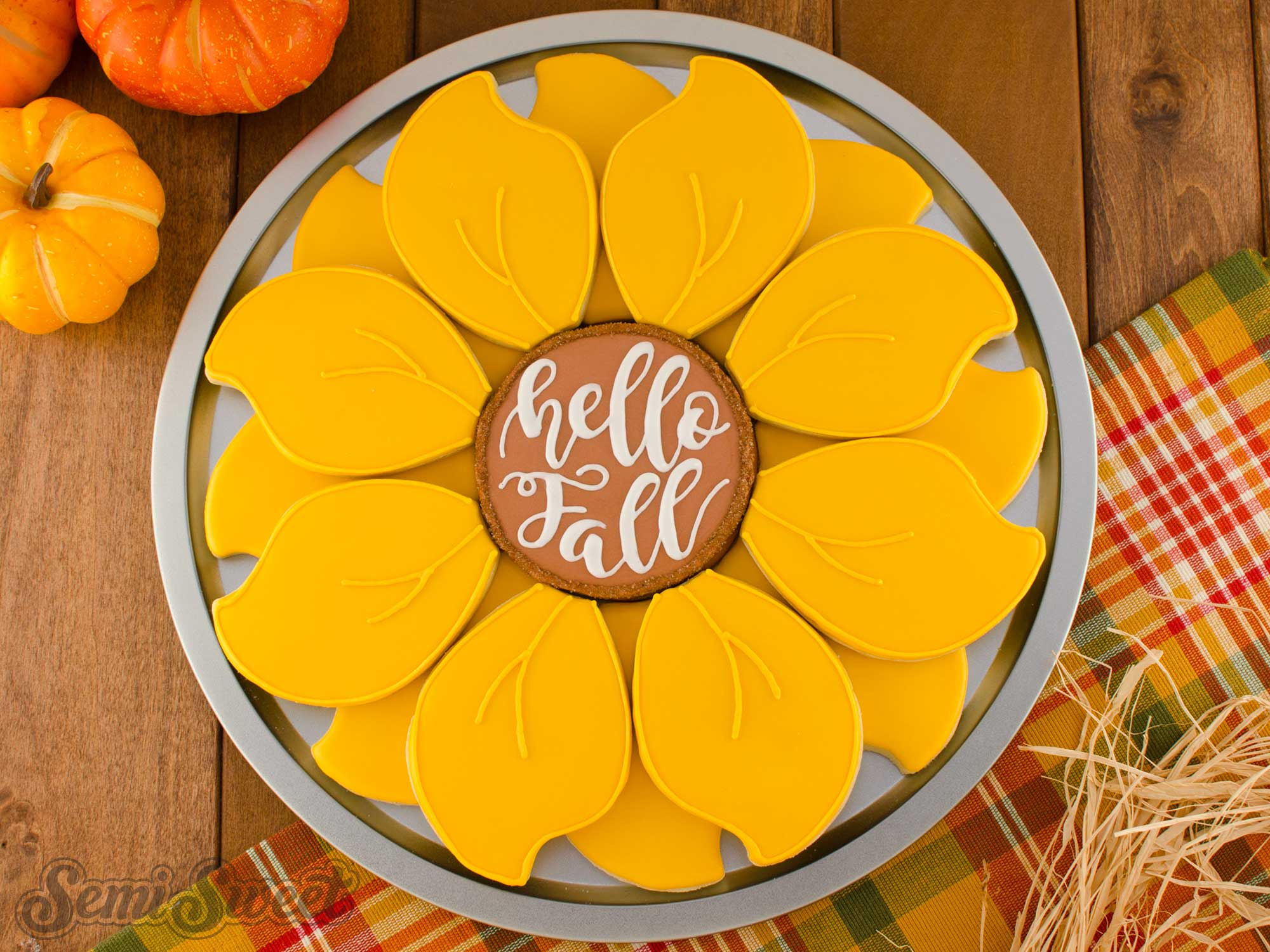 How to Make a Sunflower Cookie Platter
