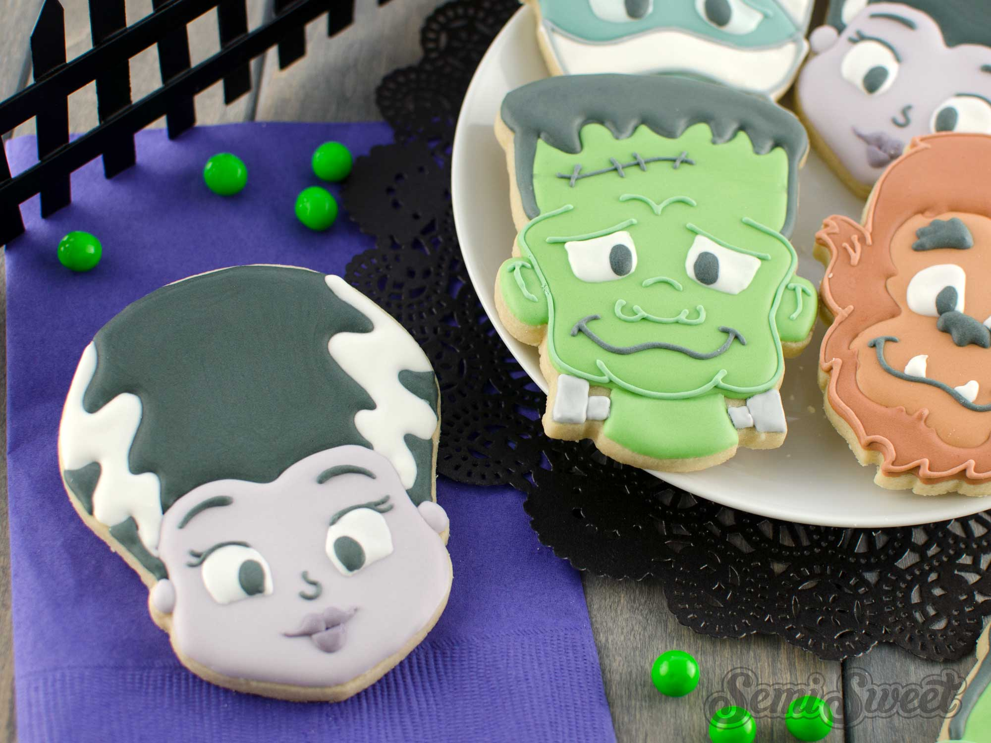 How to Make Bride of Frankenstein Cookies