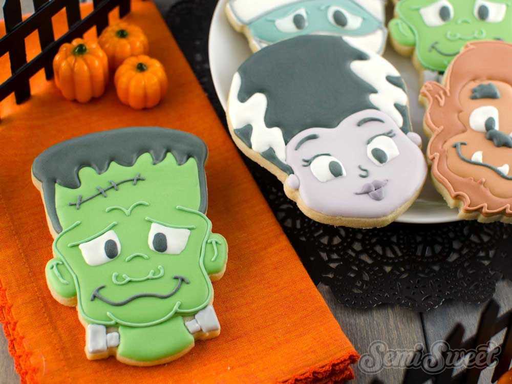 How to Make Frankenstein Cookies
