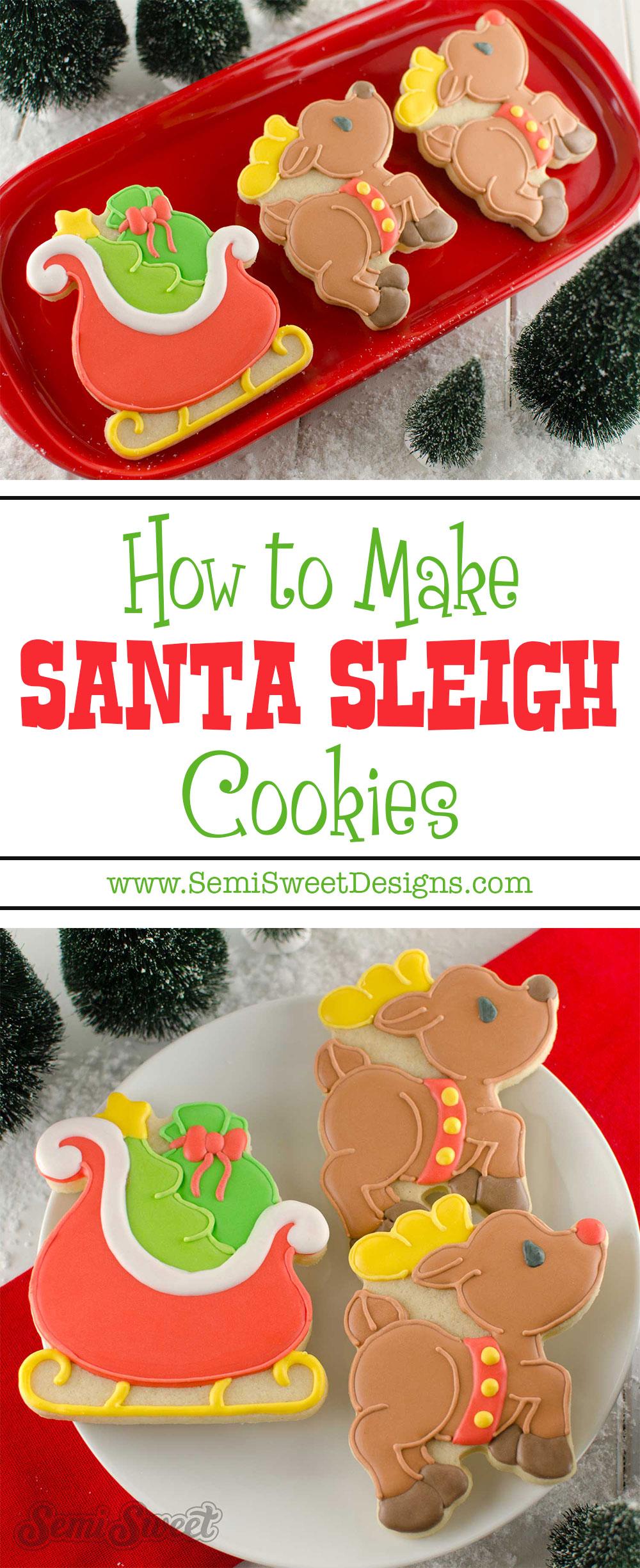 How To Make Santa Sleigh Cookies