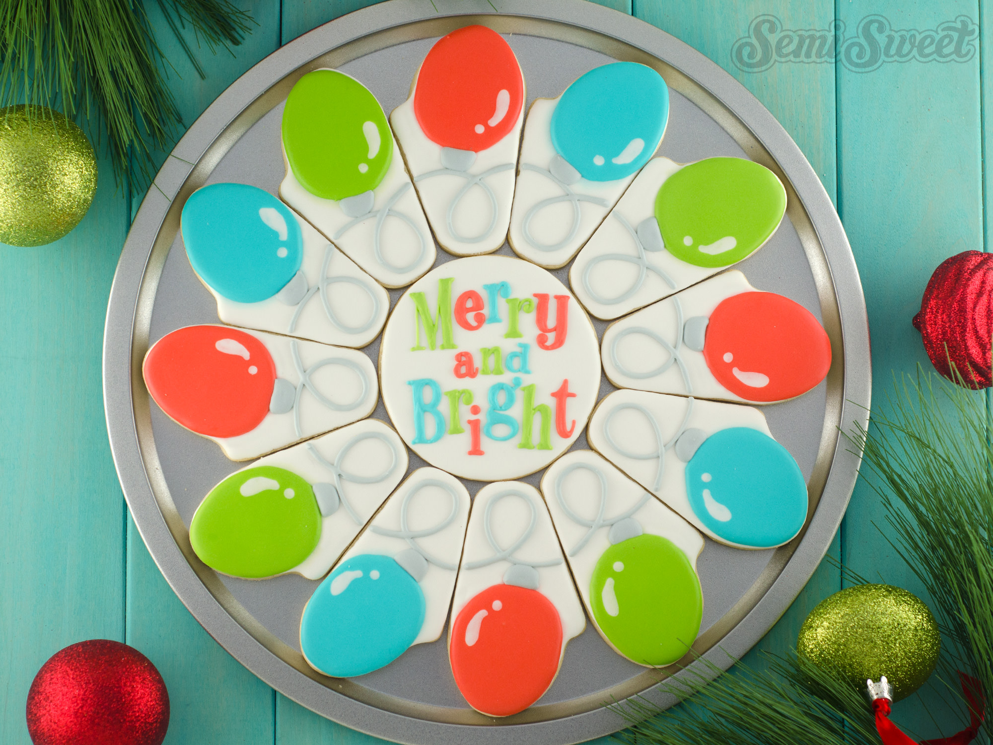 How to Make a Christmas Lights Cookie Platter